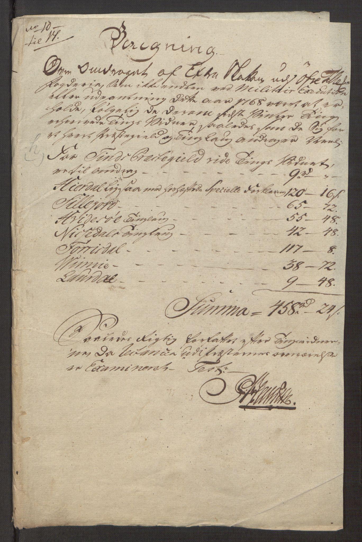 RA, Rentekammeret inntil 1814, Reviderte regnskaper, Fogderegnskap, R38/L2293: Ekstraskatten Øvre Telemark, 1762-1770, s. 113
