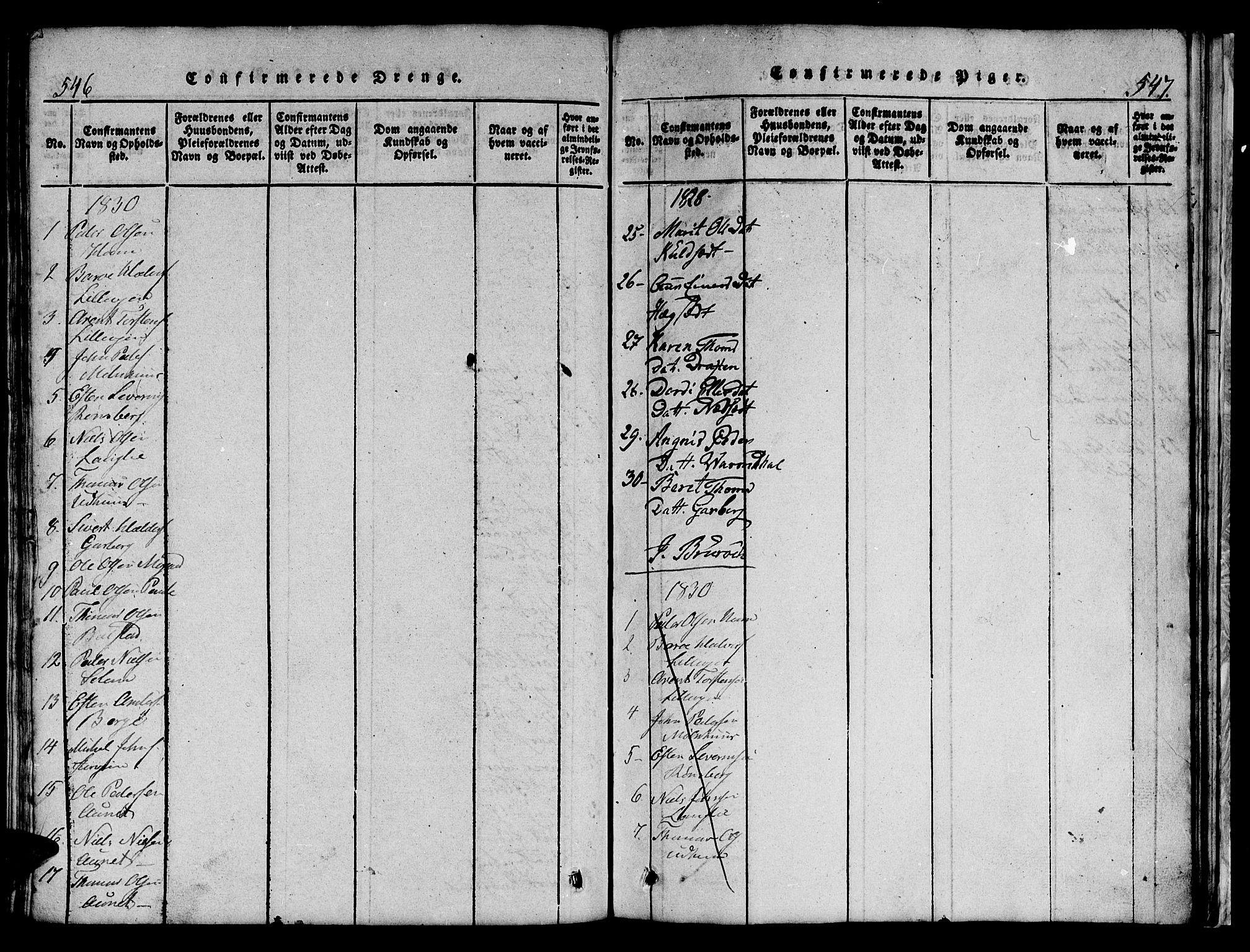 SAT, Ministerialprotokoller, klokkerbøker og fødselsregistre - Sør-Trøndelag, 695/L1152: Klokkerbok nr. 695C03, 1816-1831, s. 546-547