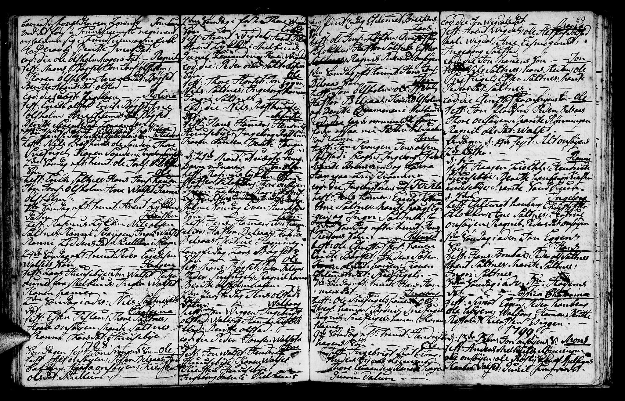SAT, Ministerialprotokoller, klokkerbøker og fødselsregistre - Sør-Trøndelag, 666/L0784: Ministerialbok nr. 666A02, 1754-1802, s. 89