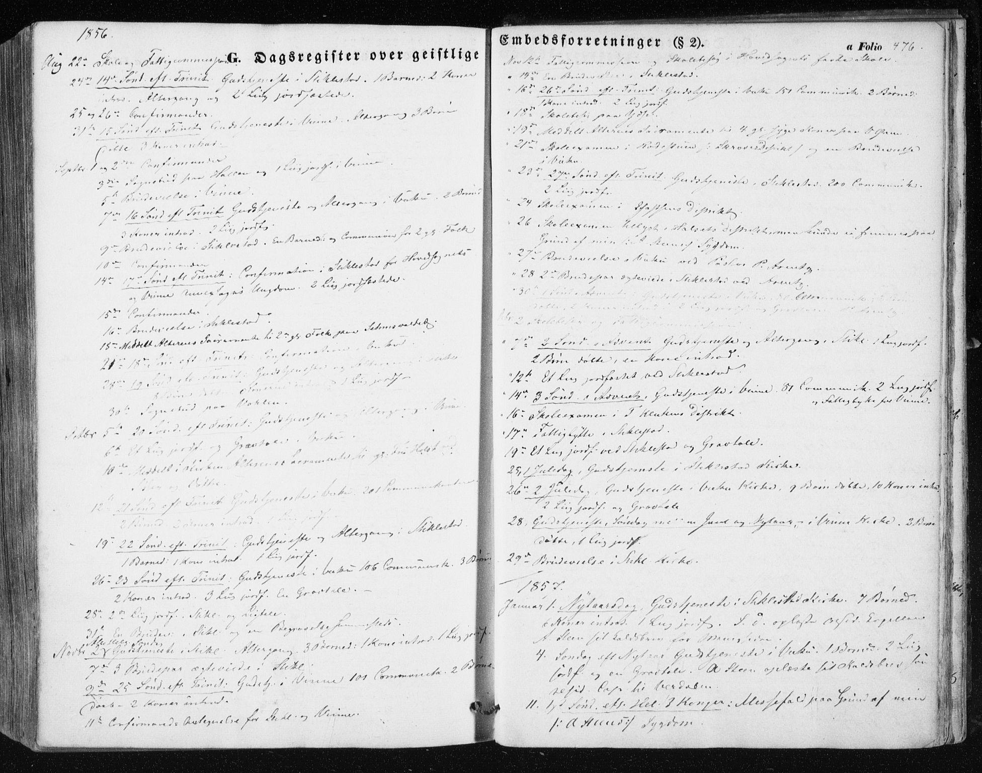 SAT, Ministerialprotokoller, klokkerbøker og fødselsregistre - Nord-Trøndelag, 723/L0240: Ministerialbok nr. 723A09, 1852-1860, s. 476