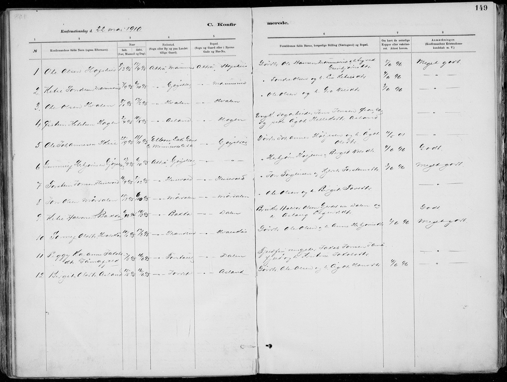 SAKO, Tinn kirkebøker, F/Fa/L0007: Ministerialbok nr. I 7, 1878-1922, s. 149