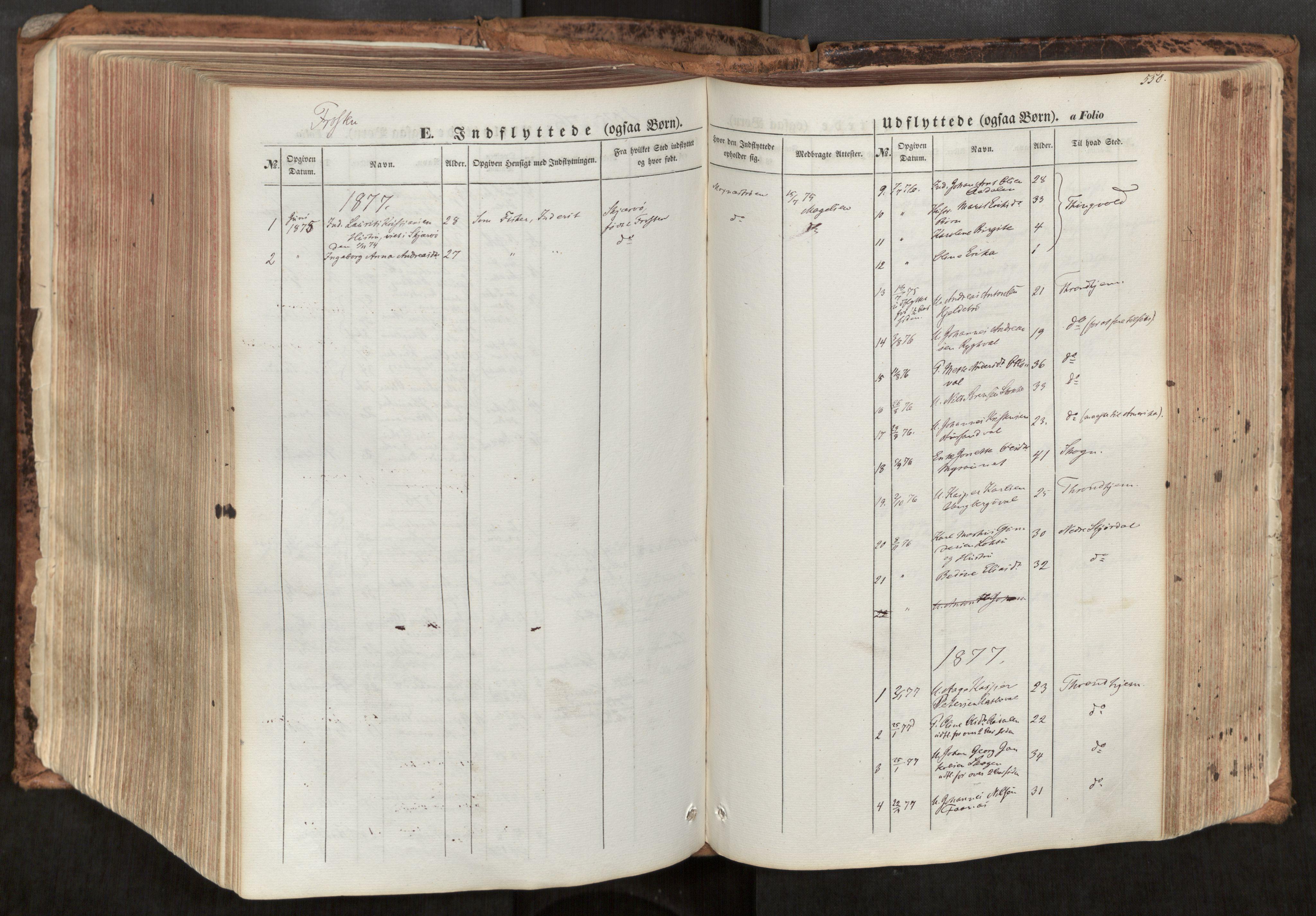 SAT, Ministerialprotokoller, klokkerbøker og fødselsregistre - Nord-Trøndelag, 713/L0116: Ministerialbok nr. 713A07, 1850-1877, s. 550