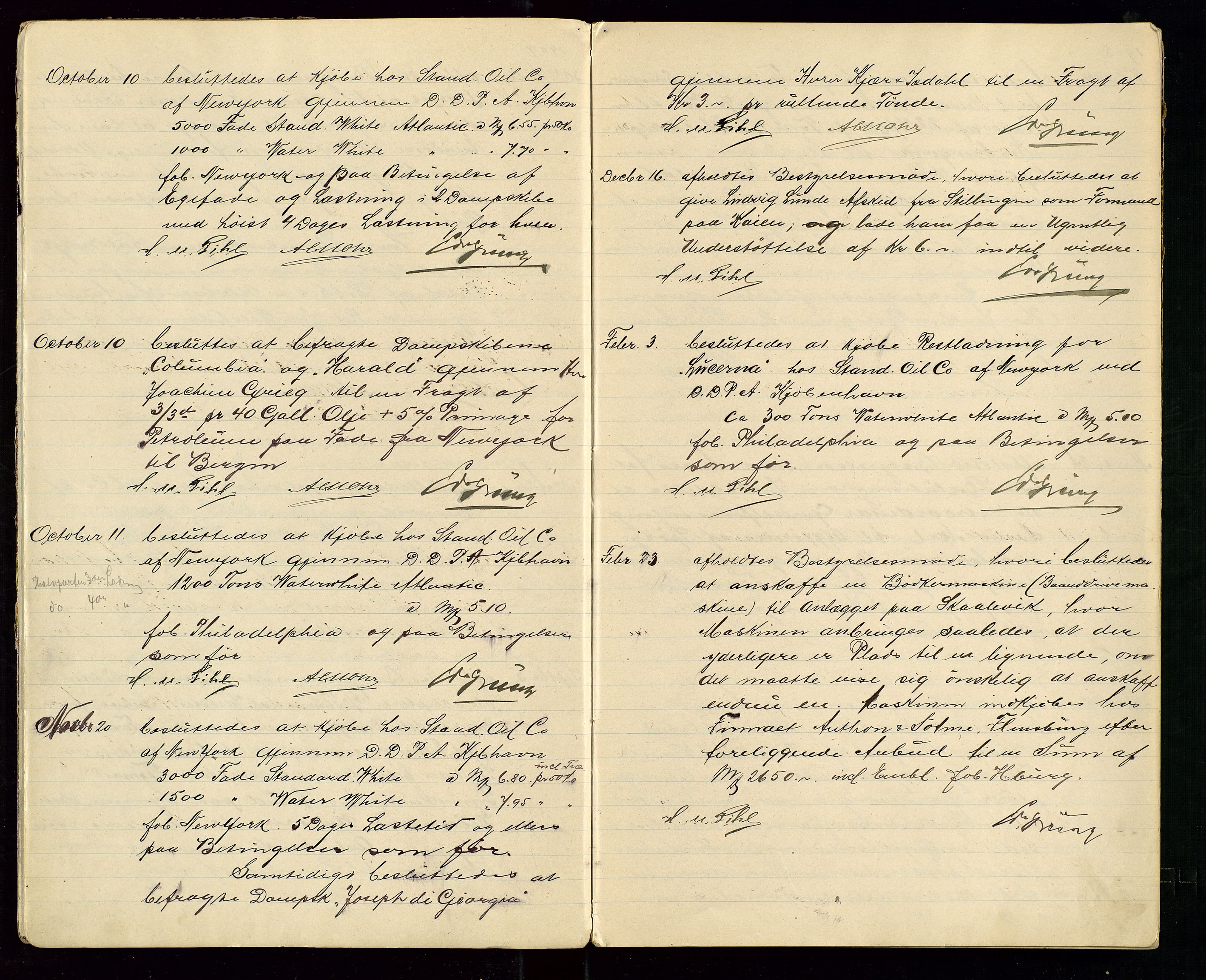 SAST, PA 1533 - A/S Vestlandske Petroleumscompani, A/Aa/L0001: Generalforsamlinger og styreprotokoller, 1907-1915, s. 4