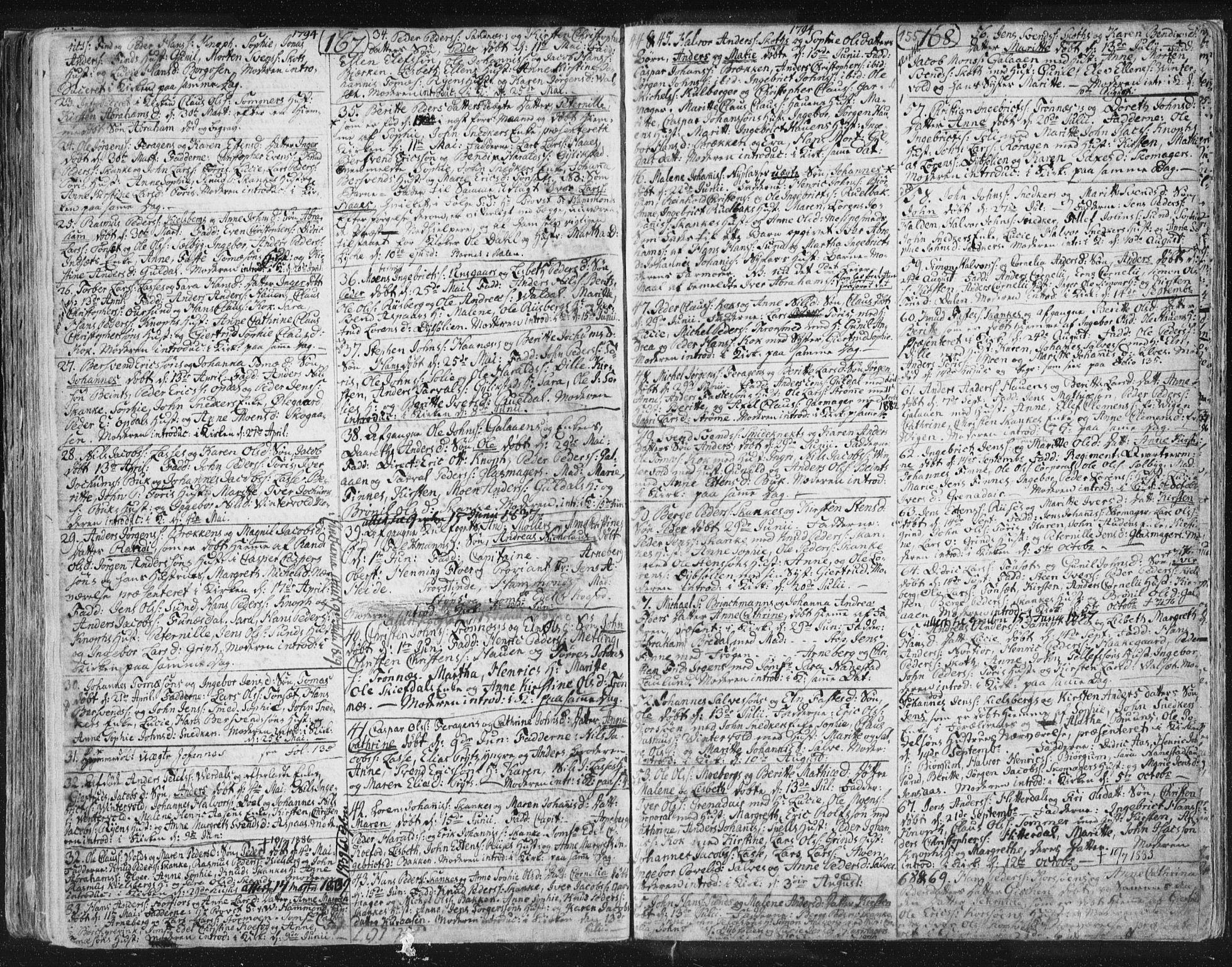 SAT, Ministerialprotokoller, klokkerbøker og fødselsregistre - Sør-Trøndelag, 681/L0926: Ministerialbok nr. 681A04, 1767-1797, s. 155