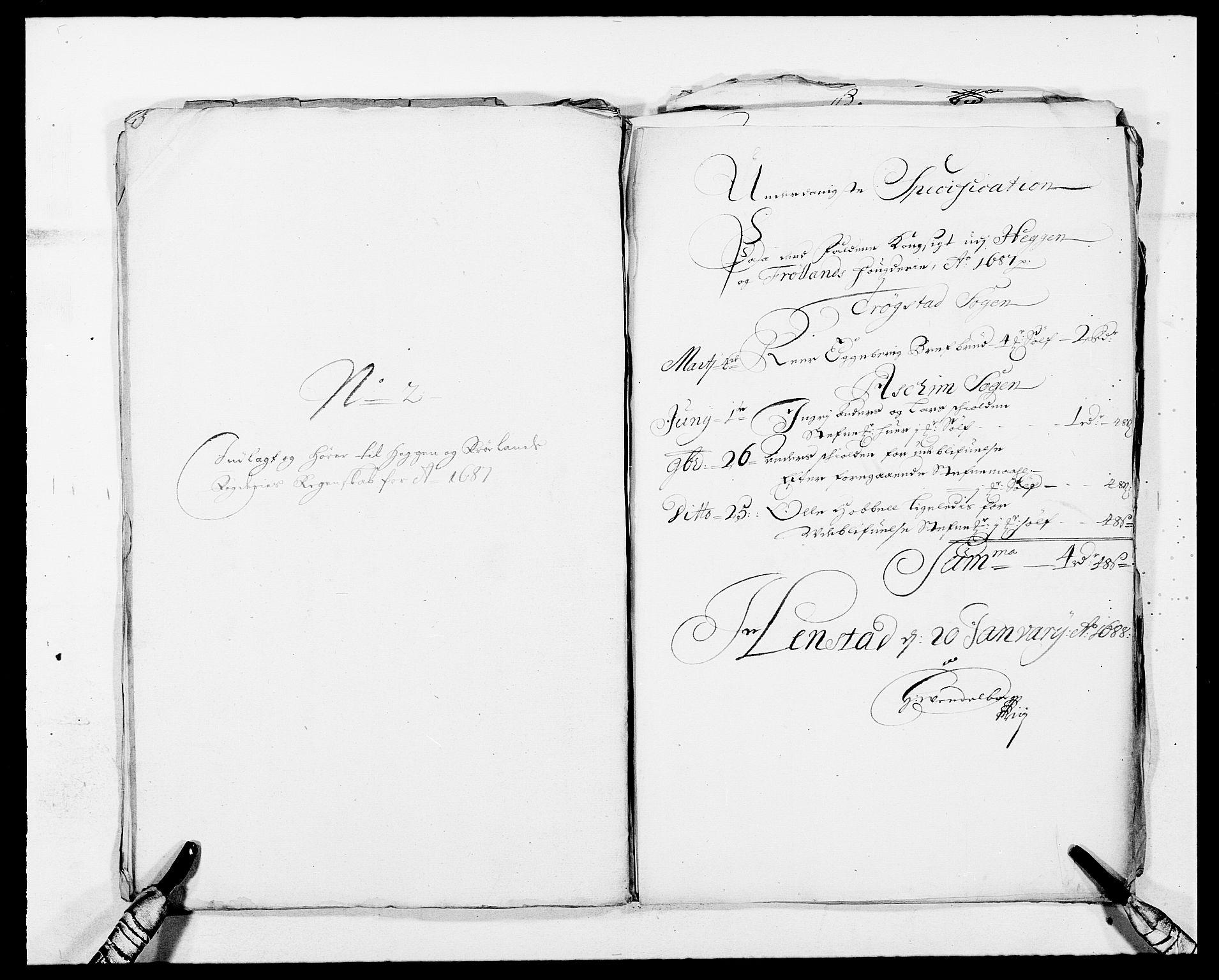 RA, Rentekammeret inntil 1814, Reviderte regnskaper, Fogderegnskap, R06/L0282: Fogderegnskap Heggen og Frøland, 1687-1690, s. 34