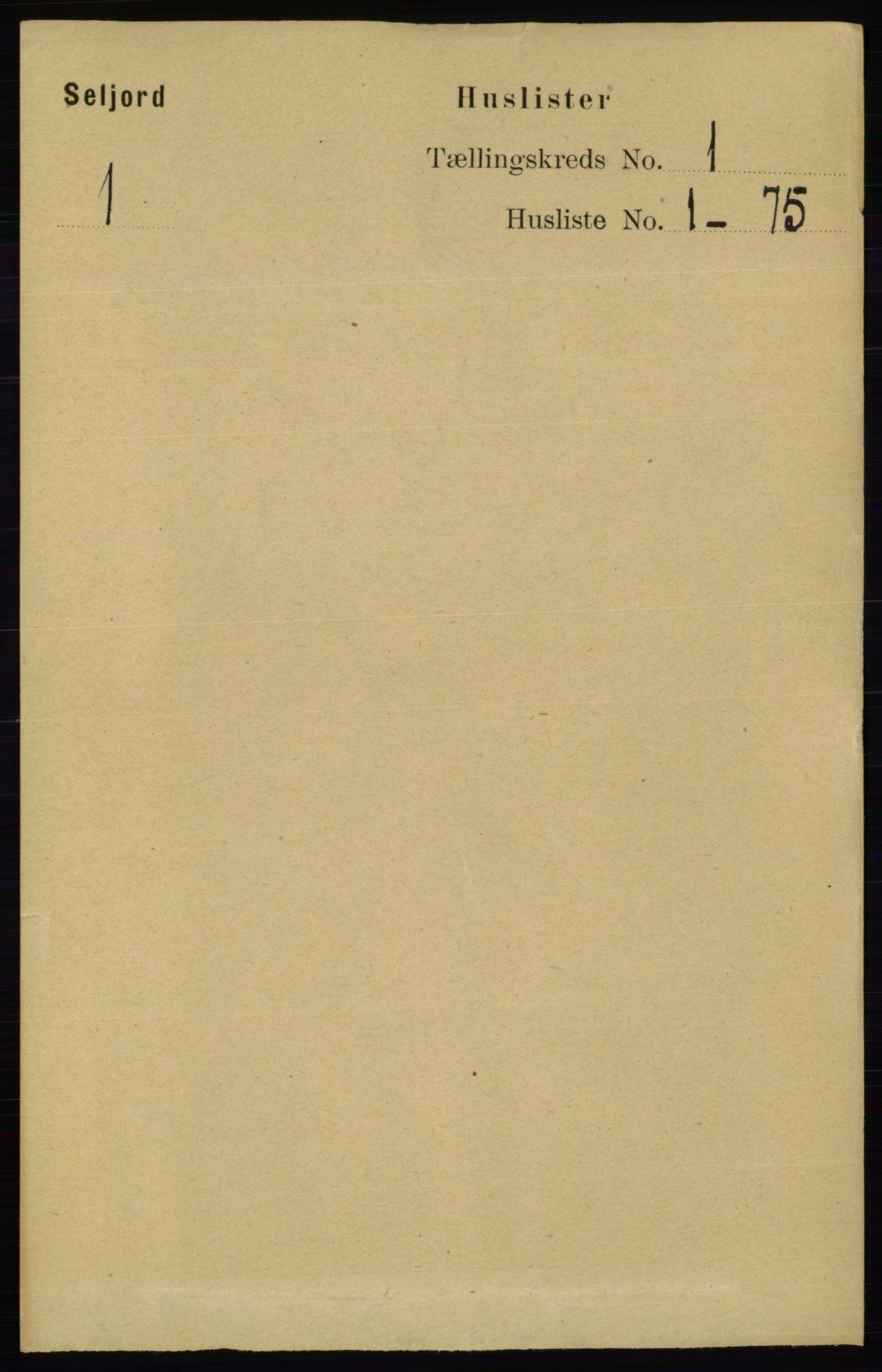RA, Folketelling 1891 for 0828 Seljord herred, 1891, s. 27