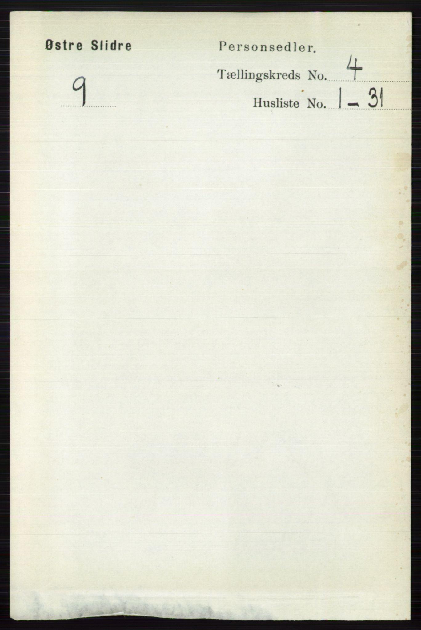 RA, Folketelling 1891 for 0544 Øystre Slidre herred, 1891, s. 1202