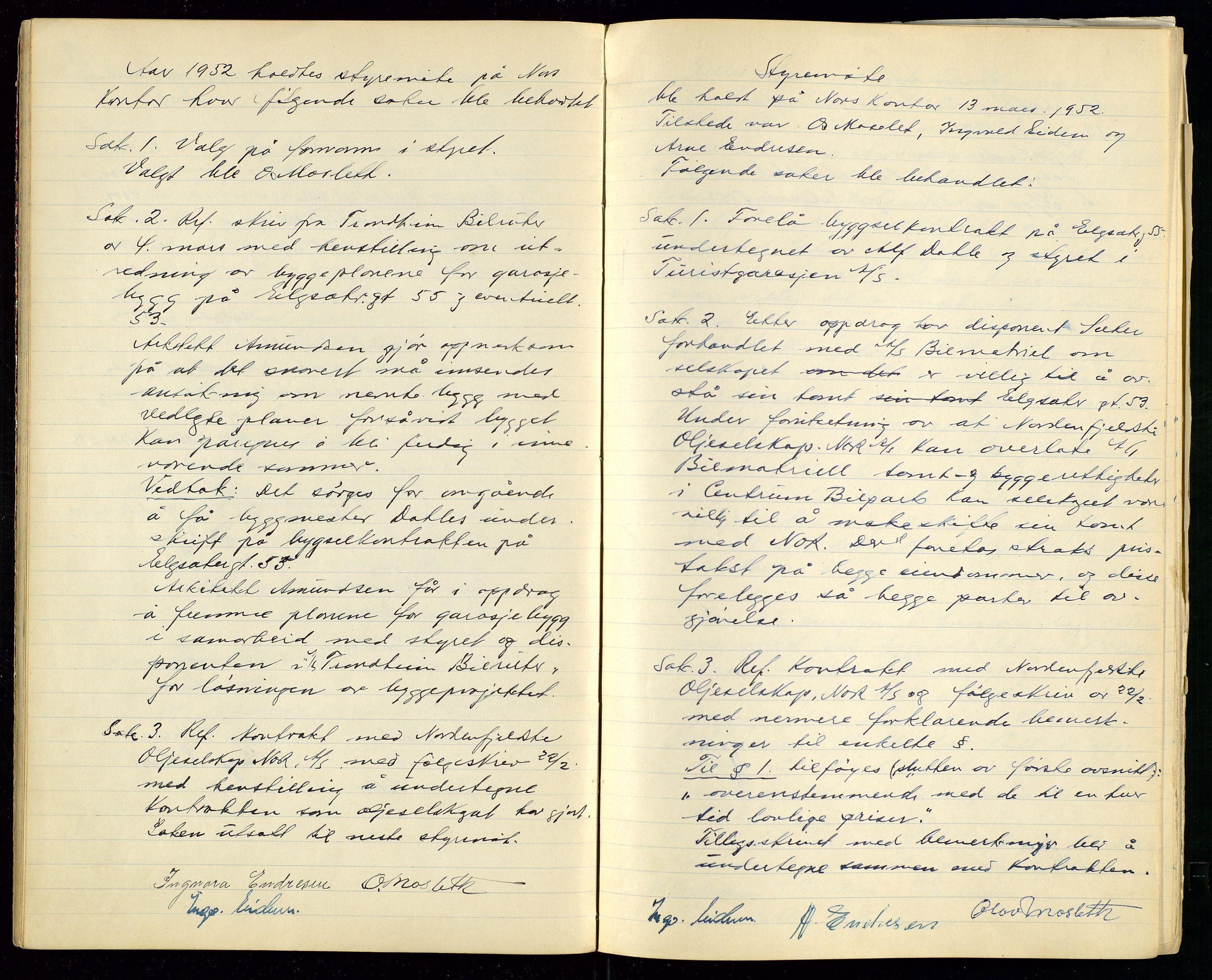 SAST, PA 1515 - Turistgarasjen A/S, A/L0001: Forhandlingsprotokoll, 1937-1958, s. 24