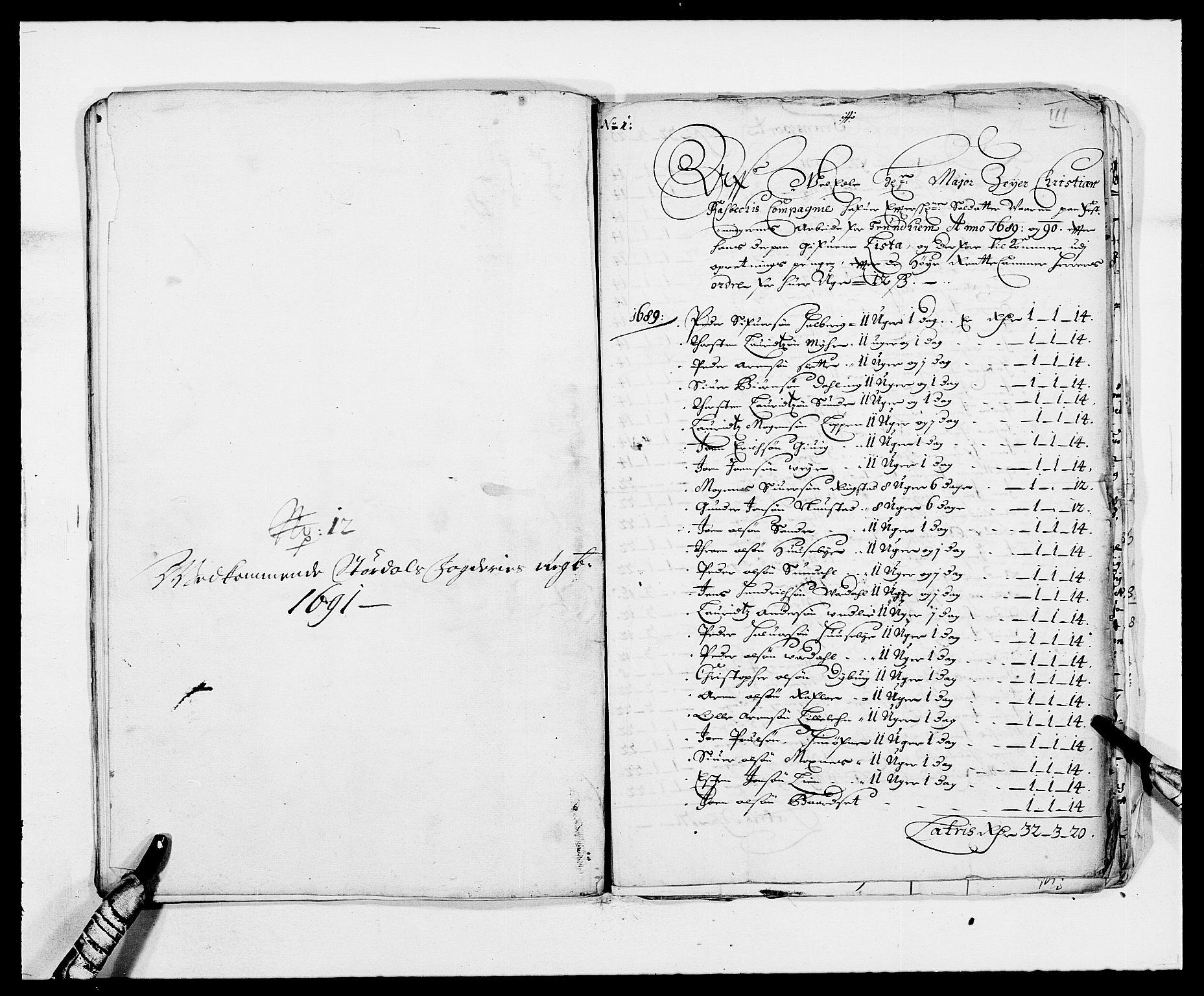 RA, Rentekammeret inntil 1814, Reviderte regnskaper, Fogderegnskap, R62/L4184: Fogderegnskap Stjørdal og Verdal, 1690-1691, s. 461