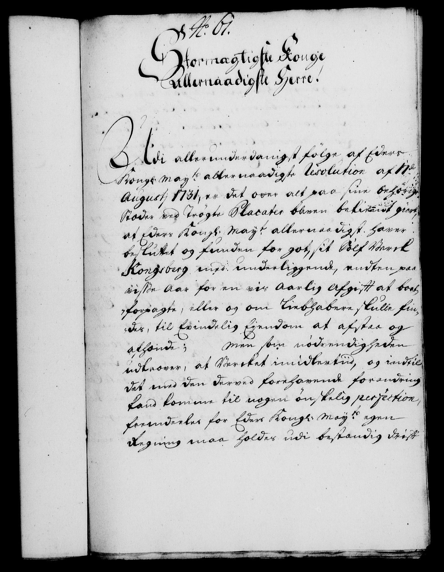 RA, Rentekammeret, Kammerkanselliet, G/Gf/Gfa/L0014: Norsk relasjons- og resolusjonsprotokoll (merket RK 52.14), 1731, s. 325