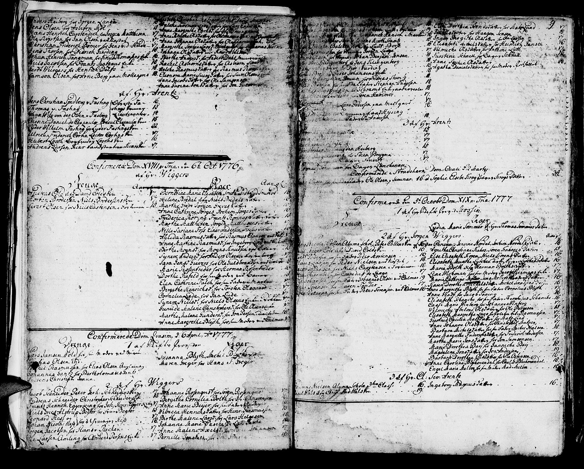 SAB, Domkirken sokneprestembete, H/Haa/L0004: Ministerialbok nr. A 4, 1763-1820, s. 9