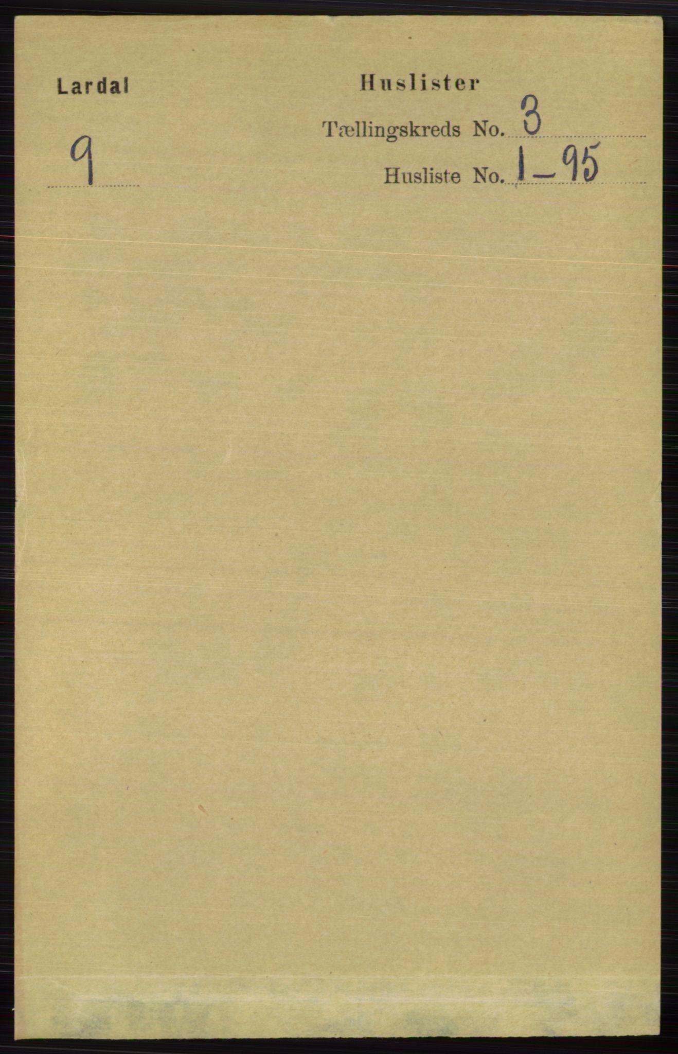 RA, Folketelling 1891 for 0728 Lardal herred, 1891, s. 1229