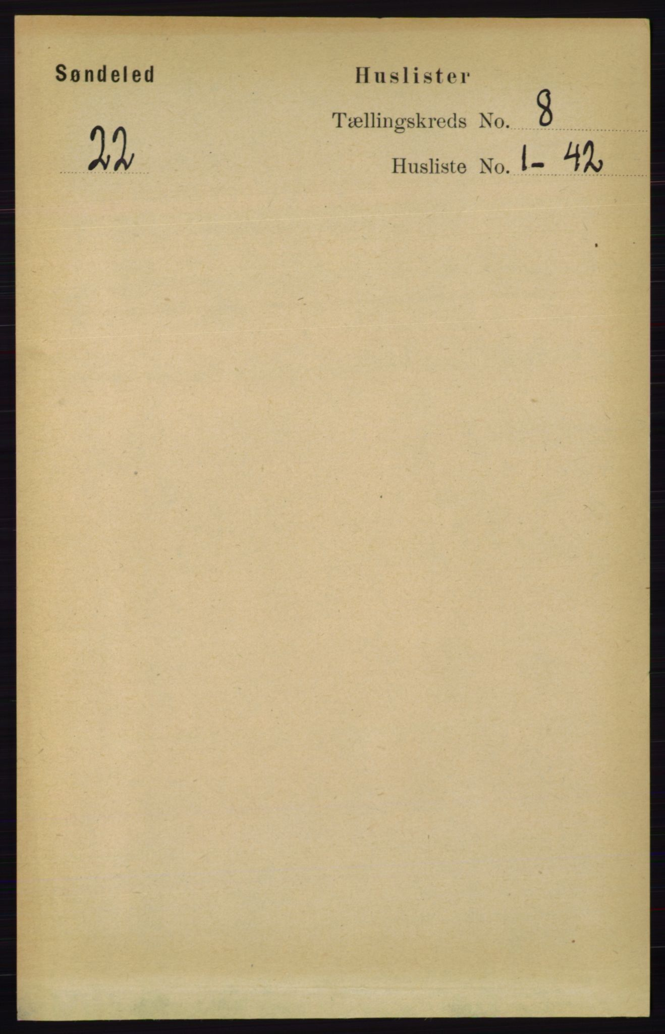 RA, Folketelling 1891 for 0913 Søndeled herred, 1891, s. 2524