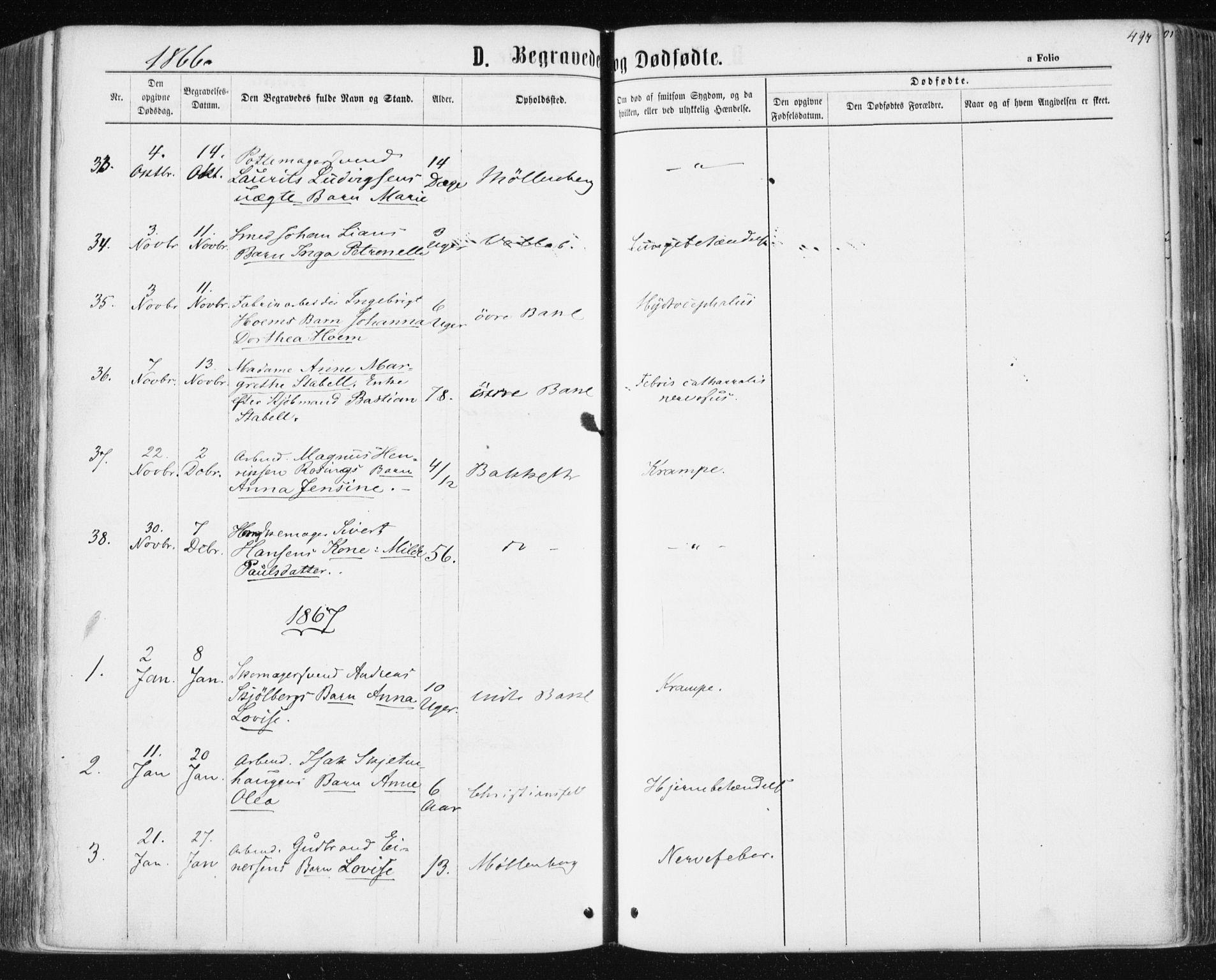 SAT, Ministerialprotokoller, klokkerbøker og fødselsregistre - Sør-Trøndelag, 604/L0186: Ministerialbok nr. 604A07, 1866-1877, s. 497