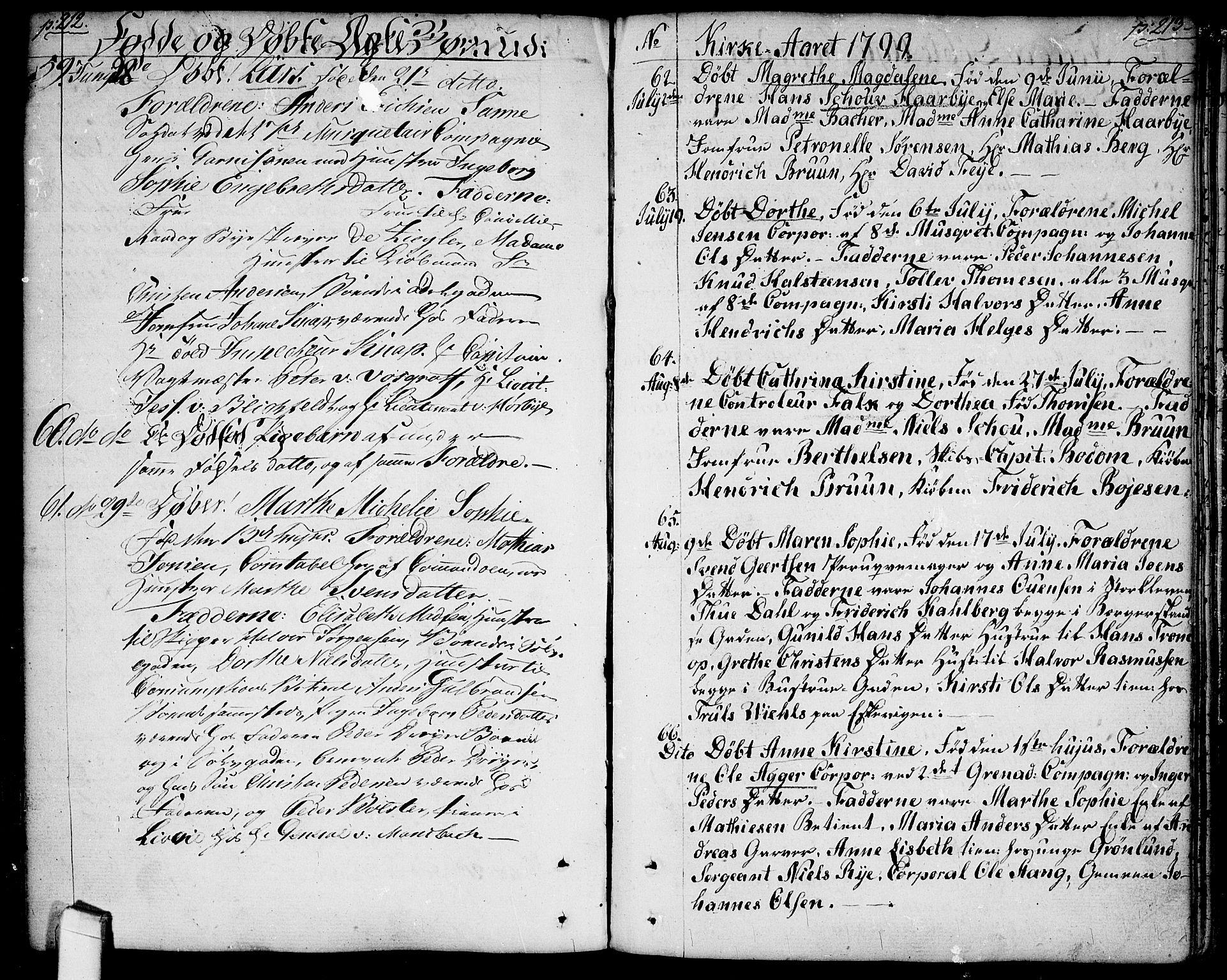 SAO, Halden prestekontor Kirkebøker, F/Fa/L0002: Ministerialbok nr. I 2, 1792-1812, s. 212-213