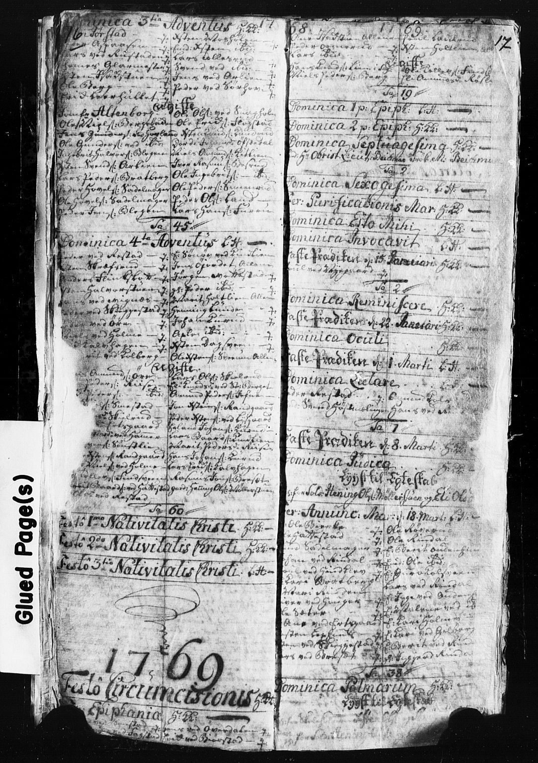 SAH, Fåberg prestekontor, Klokkerbok nr. 3, 1768-1796, s. 16-17
