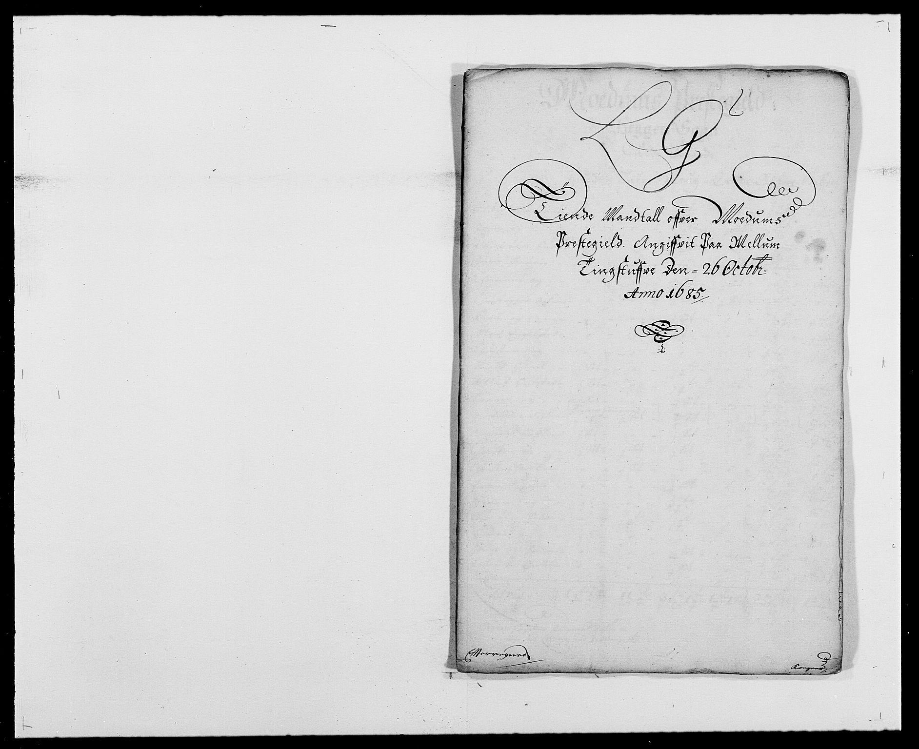 RA, Rentekammeret inntil 1814, Reviderte regnskaper, Fogderegnskap, R25/L1678: Fogderegnskap Buskerud, 1685-1686, s. 125