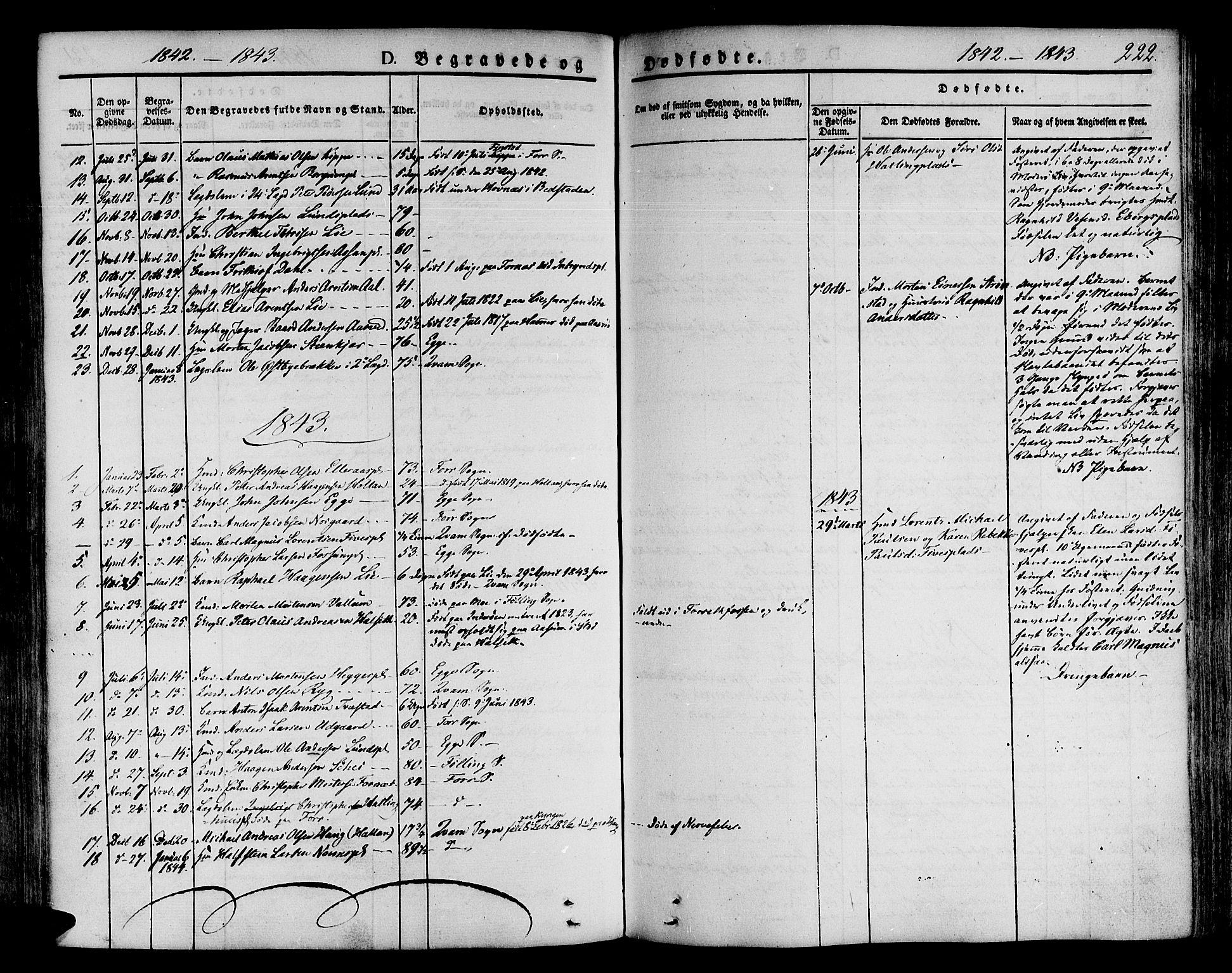 SAT, Ministerialprotokoller, klokkerbøker og fødselsregistre - Nord-Trøndelag, 746/L0445: Ministerialbok nr. 746A04, 1826-1846, s. 222