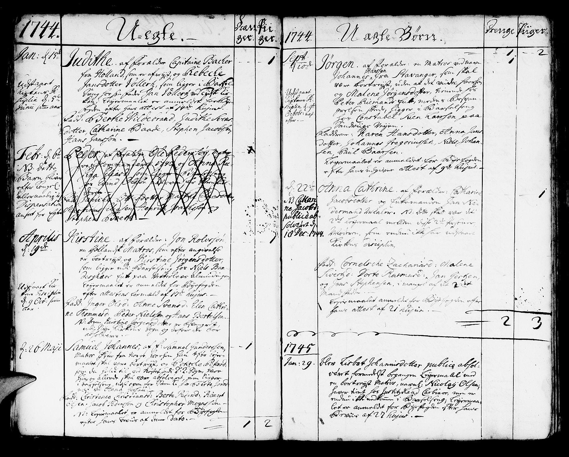 SAB, Korskirken Sokneprestembete, H/Haa/L0004: Ministerialbok nr. A 4, 1720-1750, s. 305