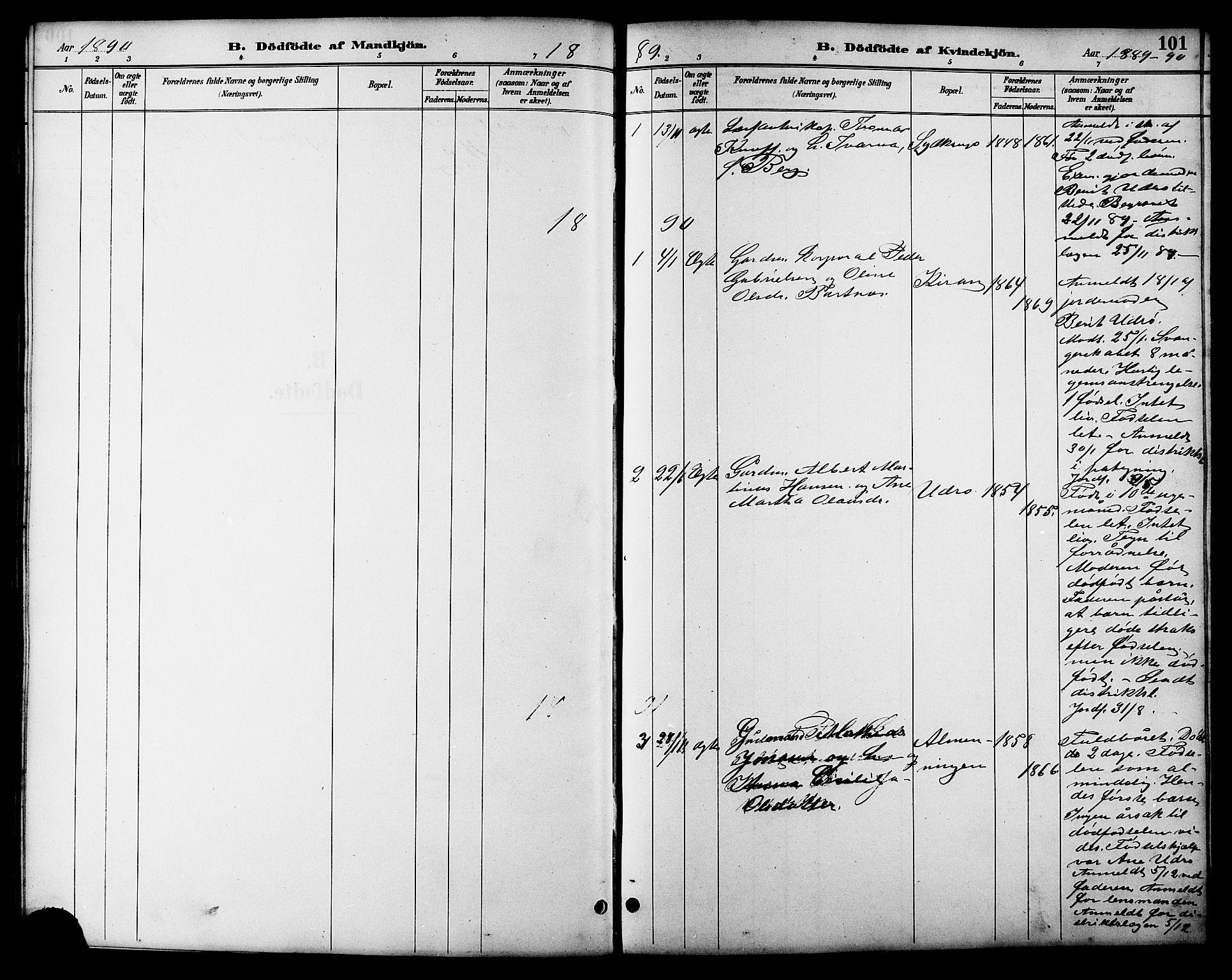 SAT, Ministerialprotokoller, klokkerbøker og fødselsregistre - Sør-Trøndelag, 657/L0716: Klokkerbok nr. 657C03, 1889-1904, s. 101