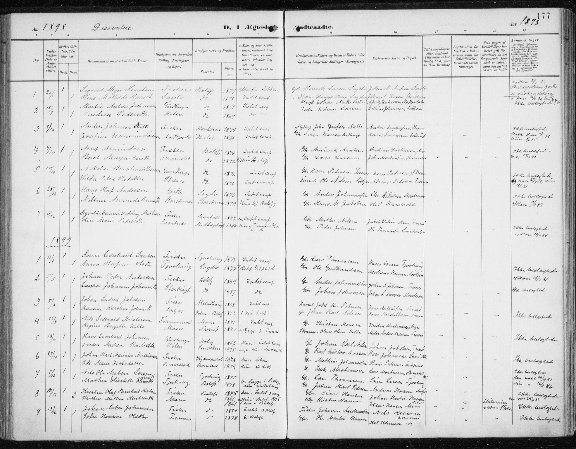 SATØ, Balsfjord sokneprestembete, Ministerialbok nr. 6, 1897-1909, s. 177