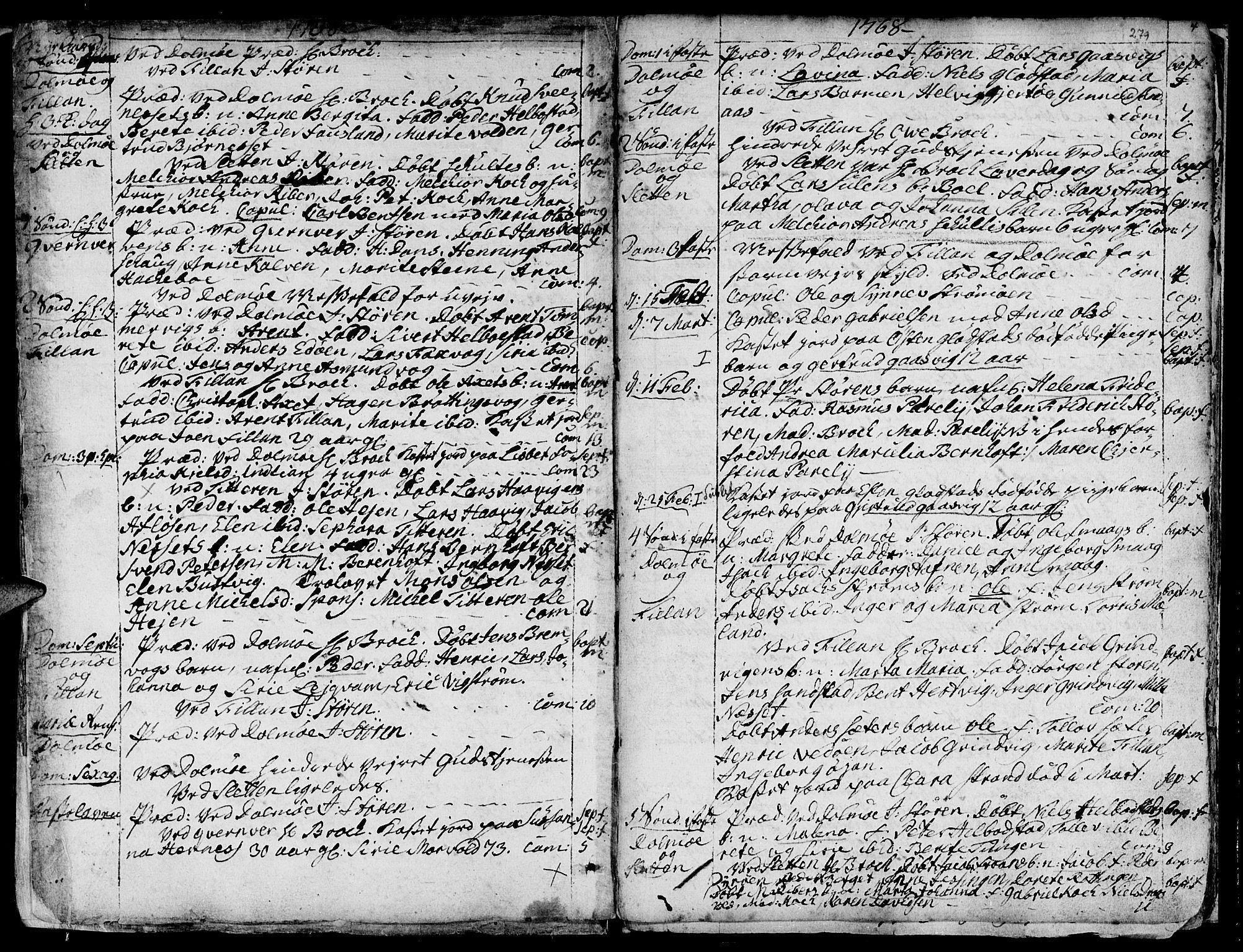 SAT, Ministerialprotokoller, klokkerbøker og fødselsregistre - Sør-Trøndelag, 634/L0525: Ministerialbok nr. 634A01, 1736-1775, s. 279