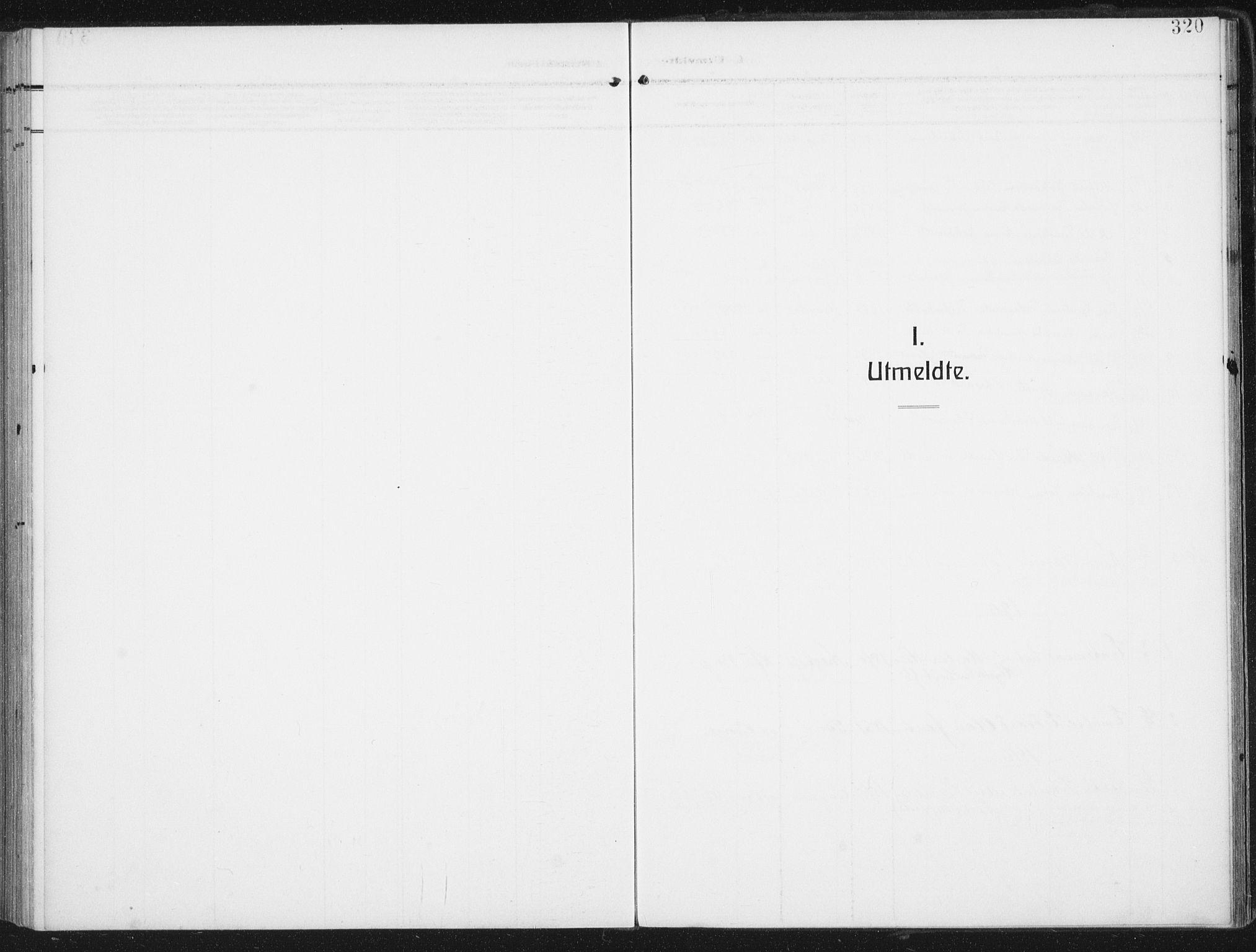 SAT, Ministerialprotokoller, klokkerbøker og fødselsregistre - Nordland, 880/L1135: Ministerialbok nr. 880A09, 1908-1919, s. 320