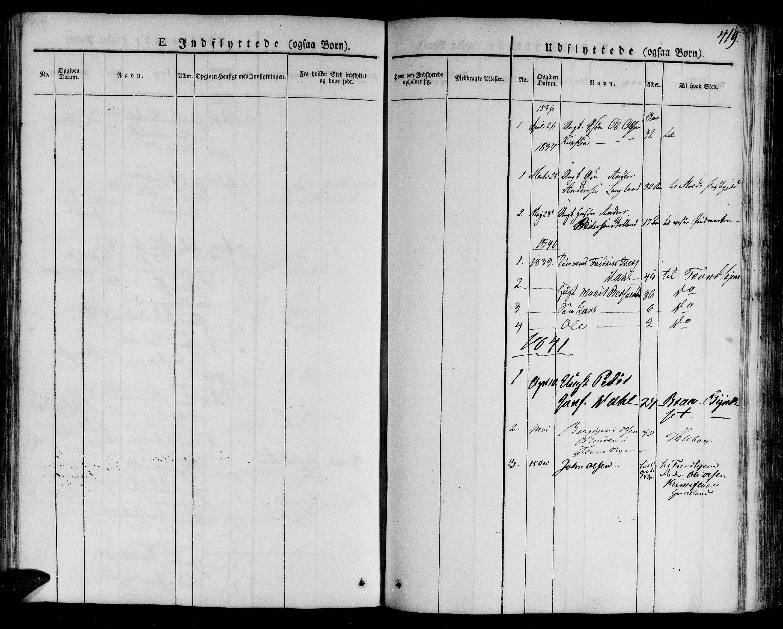 SAT, Ministerialprotokoller, klokkerbøker og fødselsregistre - Sør-Trøndelag, 691/L1072: Ministerialbok nr. 691A05 /3, 1826-1841, s. 419
