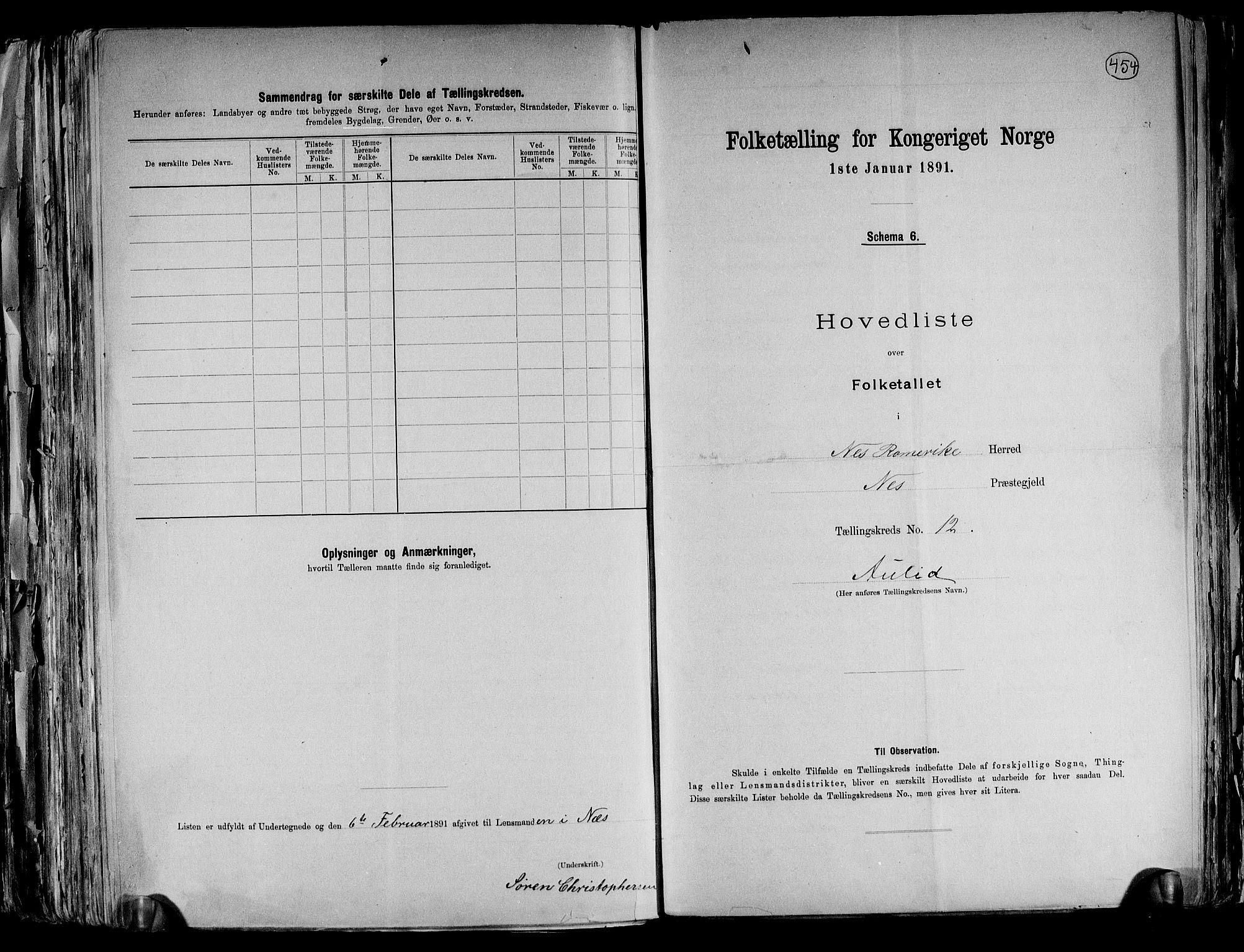 RA, Folketelling 1891 for 0236 Nes herred, 1891, s. 33
