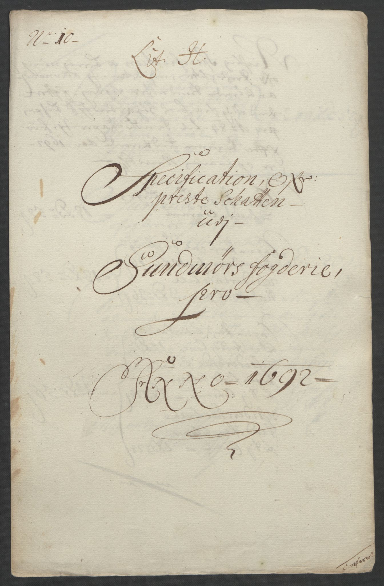 RA, Rentekammeret inntil 1814, Reviderte regnskaper, Fogderegnskap, R54/L3554: Fogderegnskap Sunnmøre, 1691-1693, s. 300