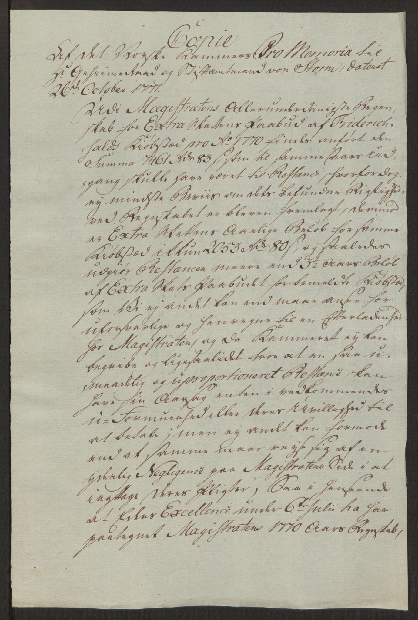 RA, Rentekammeret inntil 1814, Reviderte regnskaper, Byregnskaper, R/Ra/L0006: [A4] Kontribusjonsregnskap, 1762-1772, s. 221