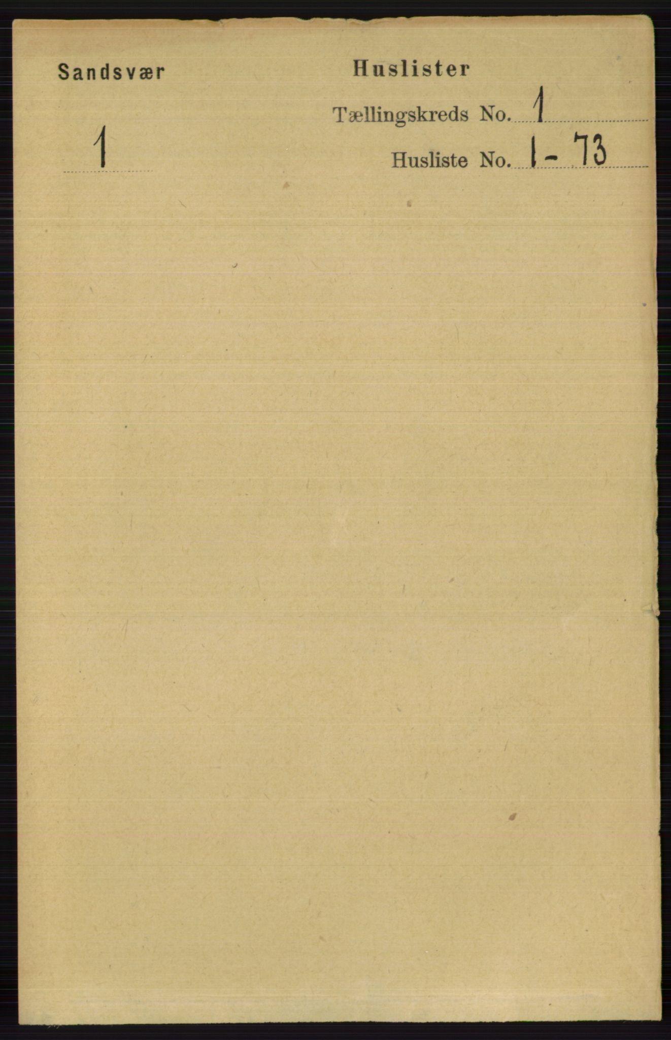 RA, Folketelling 1891 for 0629 Sandsvær herred, 1891, s. 41