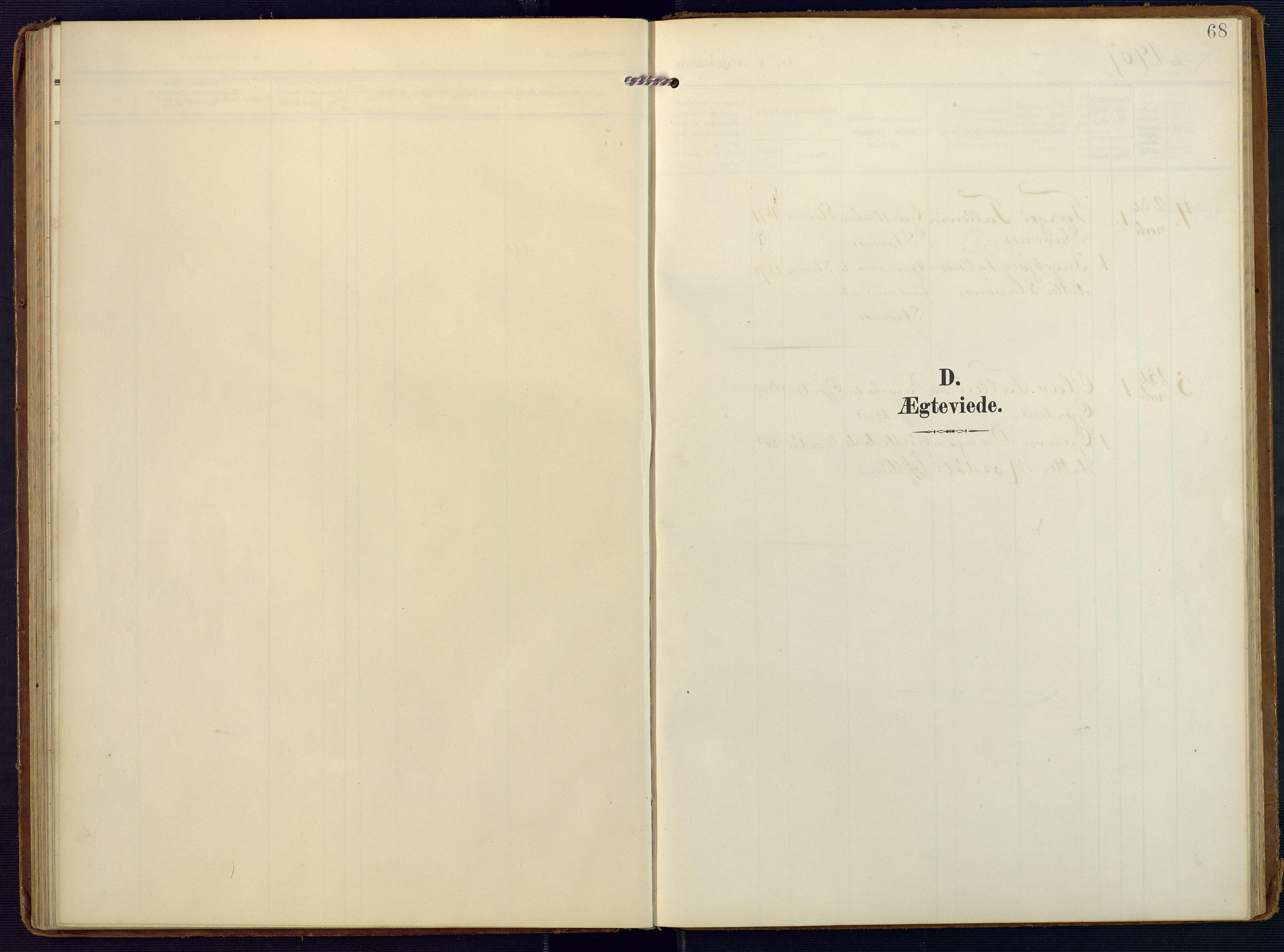 SAK, Valle sokneprestkontor, F/Fa/Faa/L0002: Ministerialbok nr. A 2, 1907-1919, s. 68