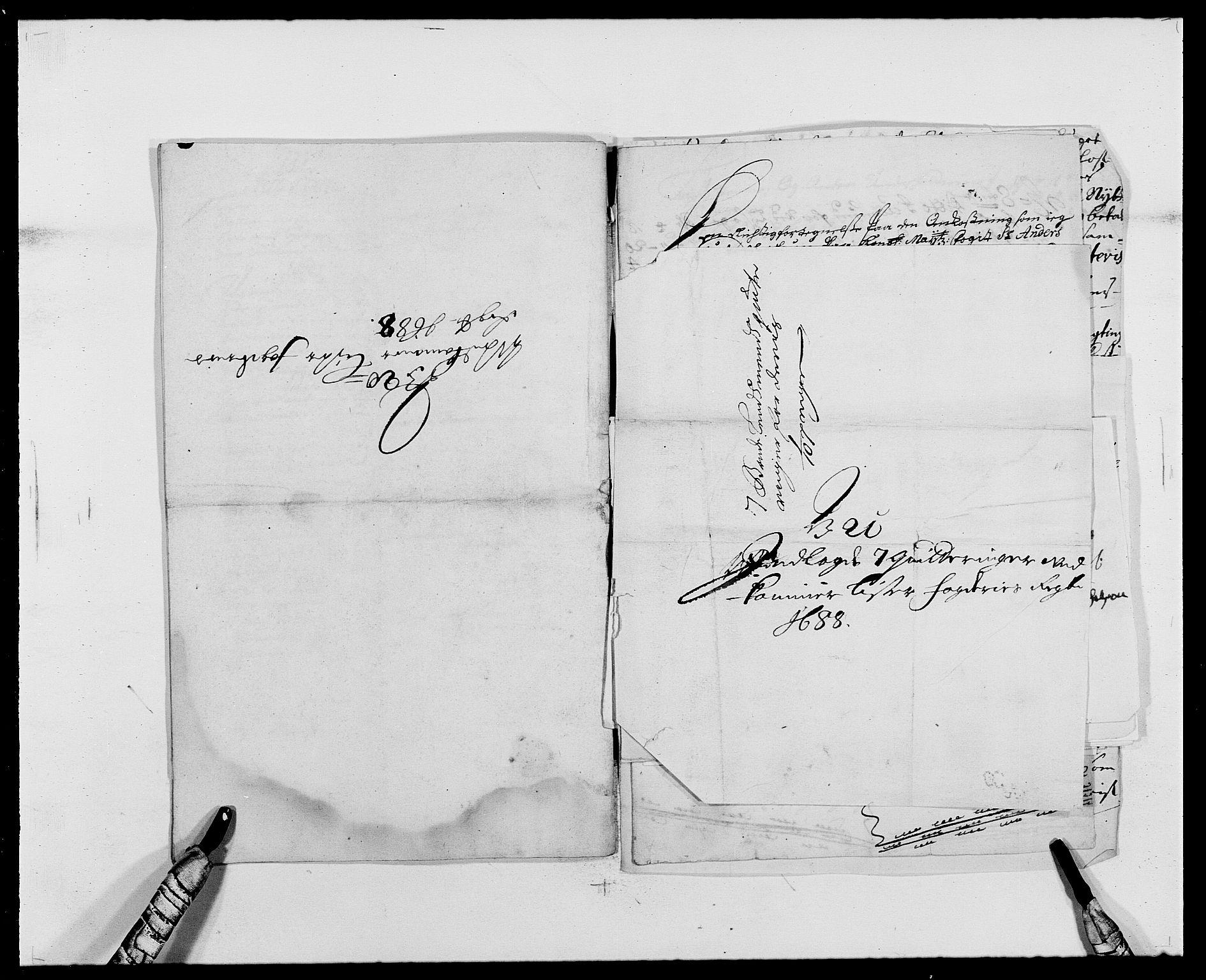 RA, Rentekammeret inntil 1814, Reviderte regnskaper, Fogderegnskap, R41/L2535: Fogderegnskap Lista, 1686-1689, s. 101