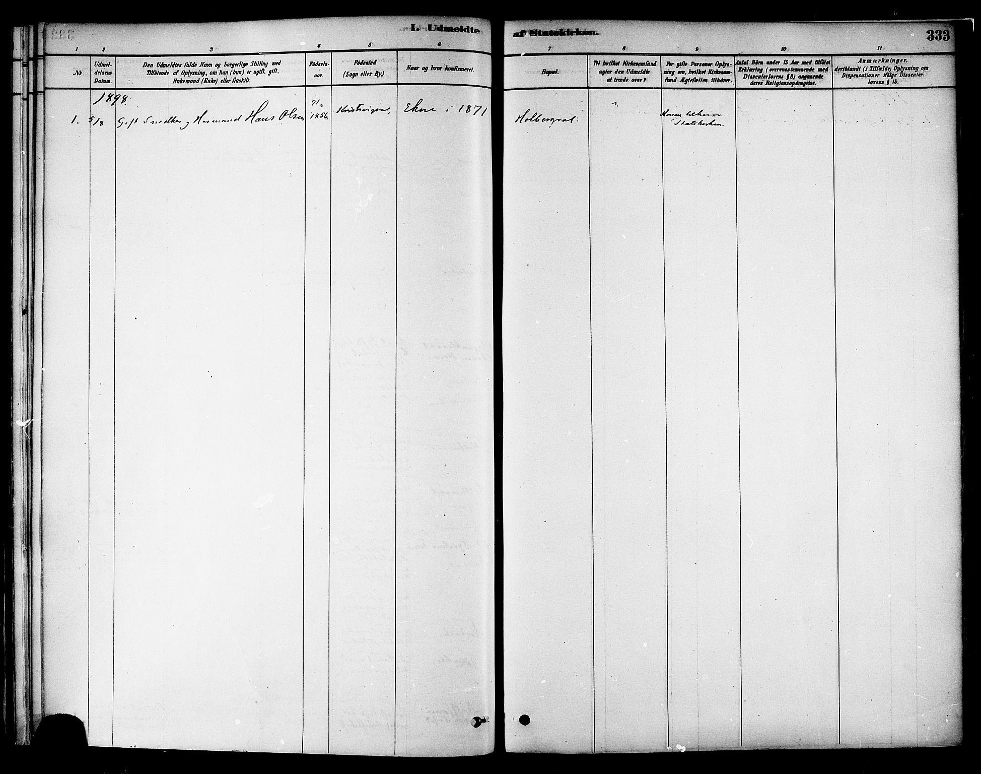 SAT, Ministerialprotokoller, klokkerbøker og fødselsregistre - Nord-Trøndelag, 717/L0159: Ministerialbok nr. 717A09, 1878-1898, s. 333