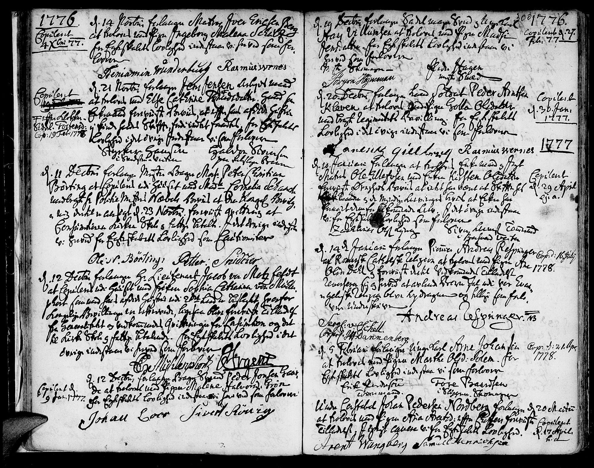 SAT, Ministerialprotokoller, klokkerbøker og fødselsregistre - Sør-Trøndelag, 601/L0038: Ministerialbok nr. 601A06, 1766-1877, s. 300