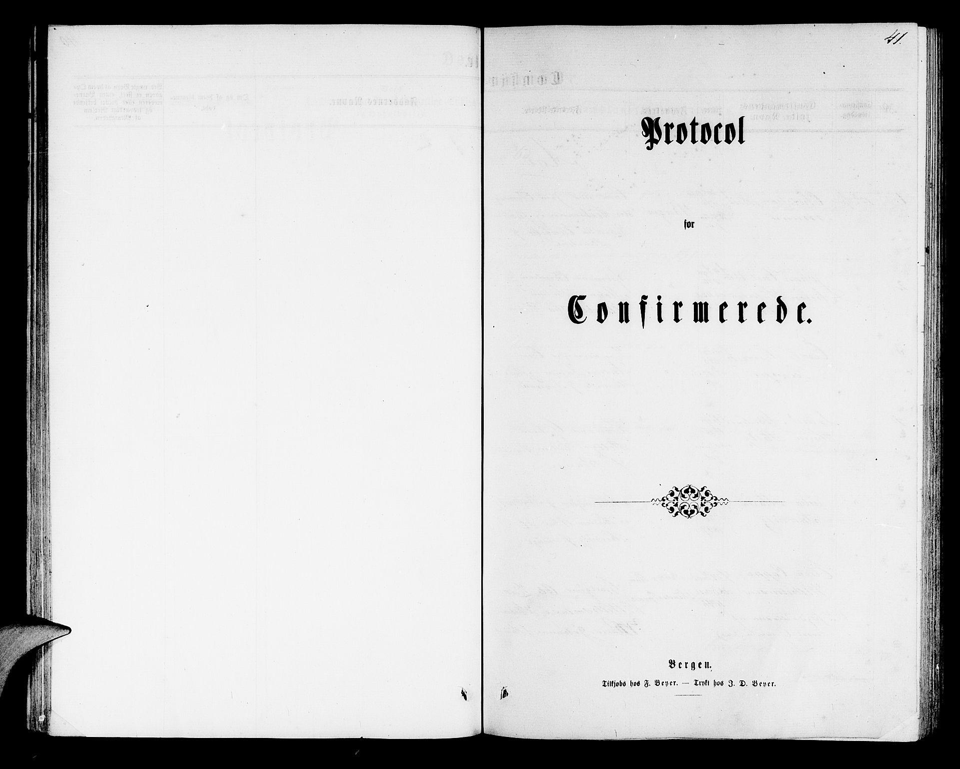 SAB, Mariakirken Sokneprestembete, H/Hab/L0003: Klokkerbok nr. A 3, 1862-1877, s. 41