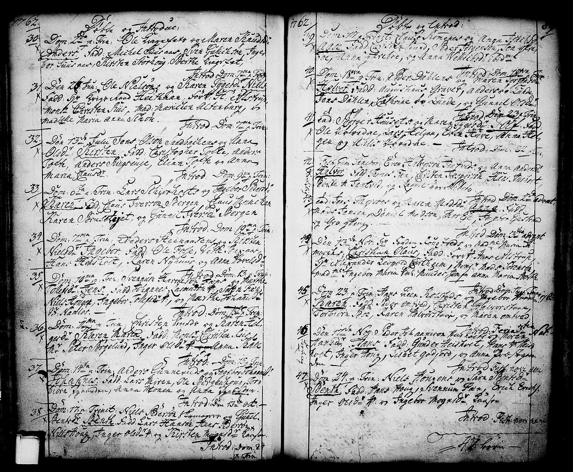 SAKO, Holla kirkebøker, F/Fa/L0001: Ministerialbok nr. 1, 1717-1779, s. 89