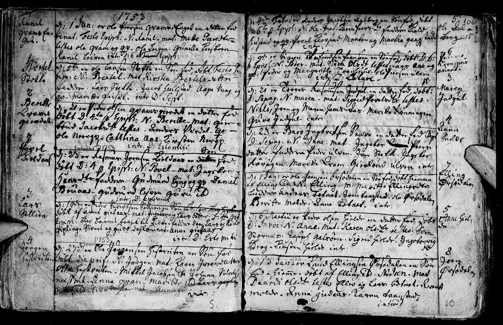SAT, Ministerialprotokoller, klokkerbøker og fødselsregistre - Nord-Trøndelag, 730/L0272: Ministerialbok nr. 730A01, 1733-1764, s. 106