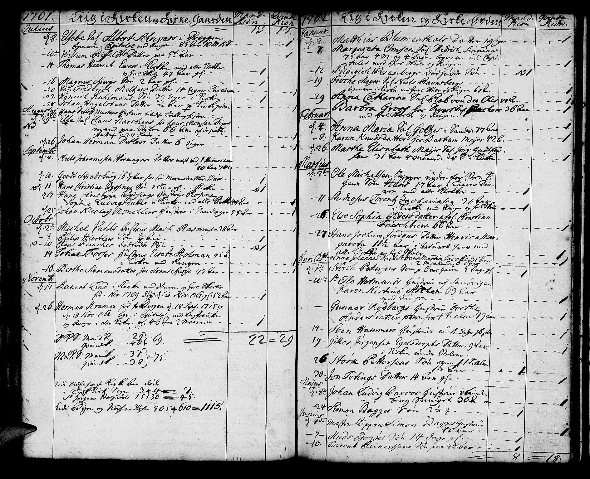 SAB, Korskirken Sokneprestembete, H/Haa/L0011: Ministerialbok nr. A 11, 1731-1785, s. 160