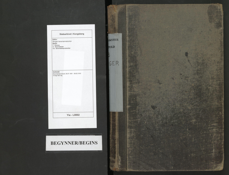 SAKO, Skoger lensmannskontor, Y/Yi/Yia/L0002: Branntakstprotokoll, 1901-1910