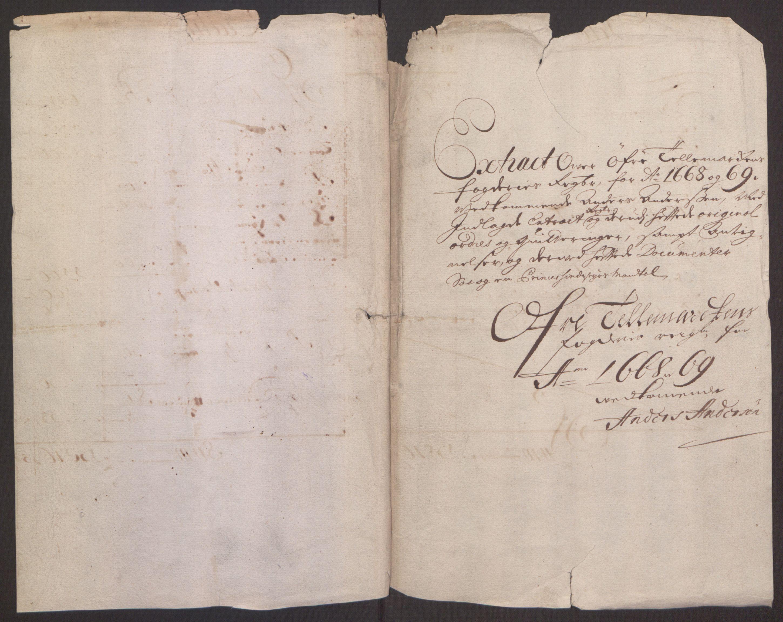 RA, Rentekammeret inntil 1814, Reviderte regnskaper, Fogderegnskap, R35/L2059: Fogderegnskap Øvre og Nedre Telemark, 1668-1670, s. 63