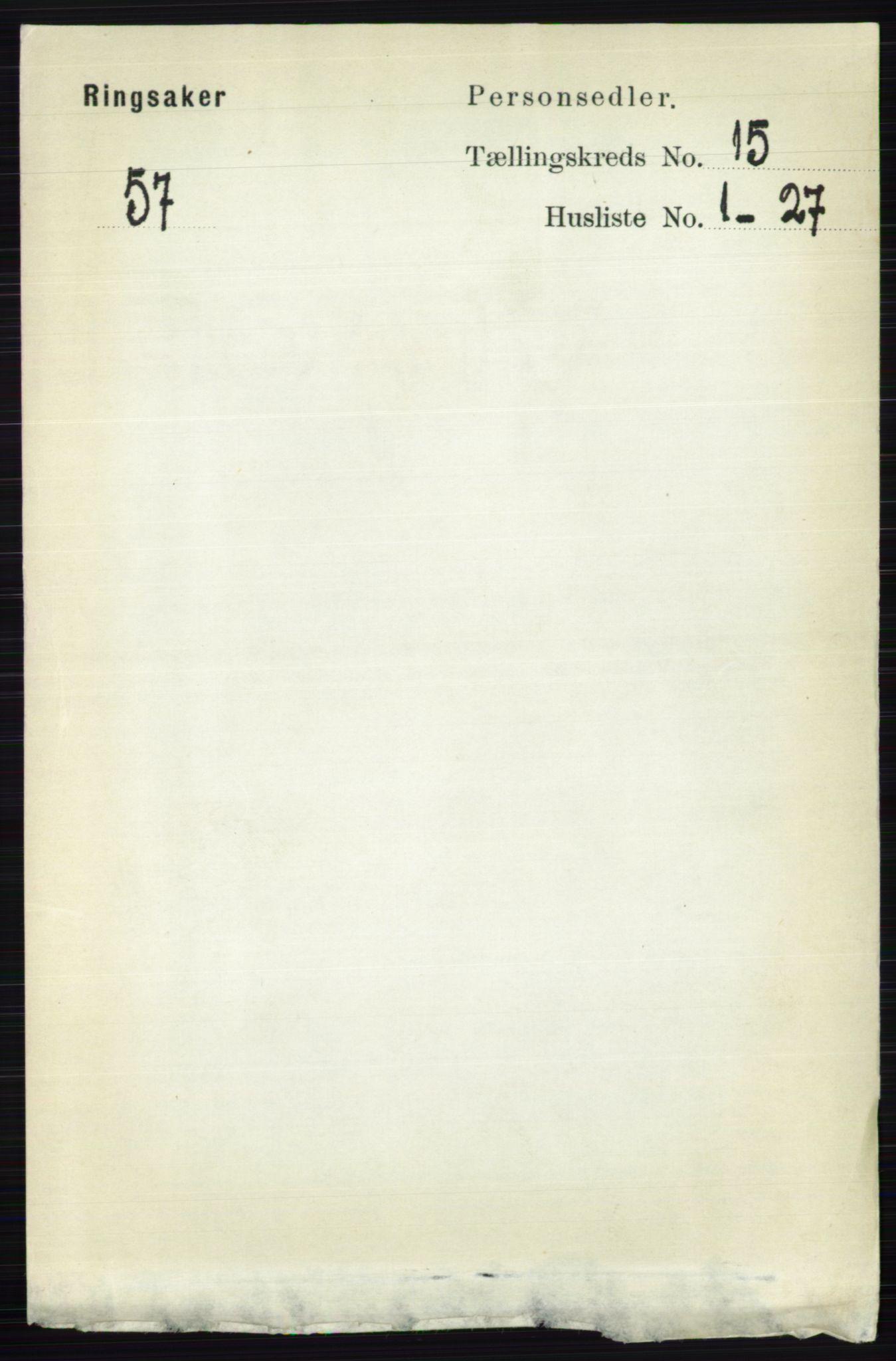 RA, Folketelling 1891 for 0412 Ringsaker herred, 1891, s. 8482