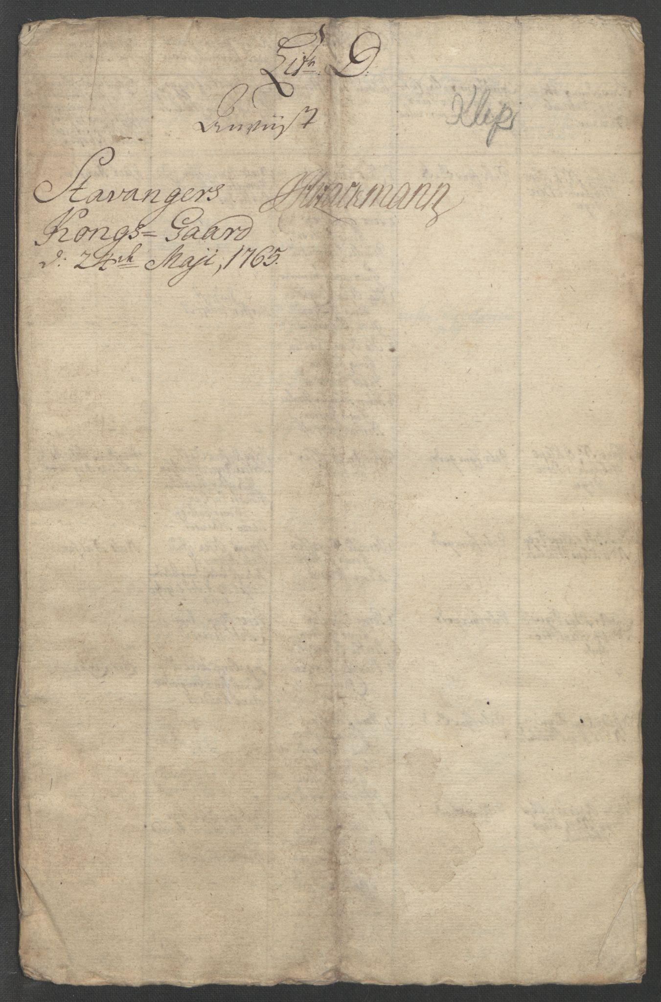 RA, Rentekammeret inntil 1814, Reviderte regnskaper, Fogderegnskap, R46/L2835: Ekstraskatten Jæren og Dalane, 1762-1764, s. 213