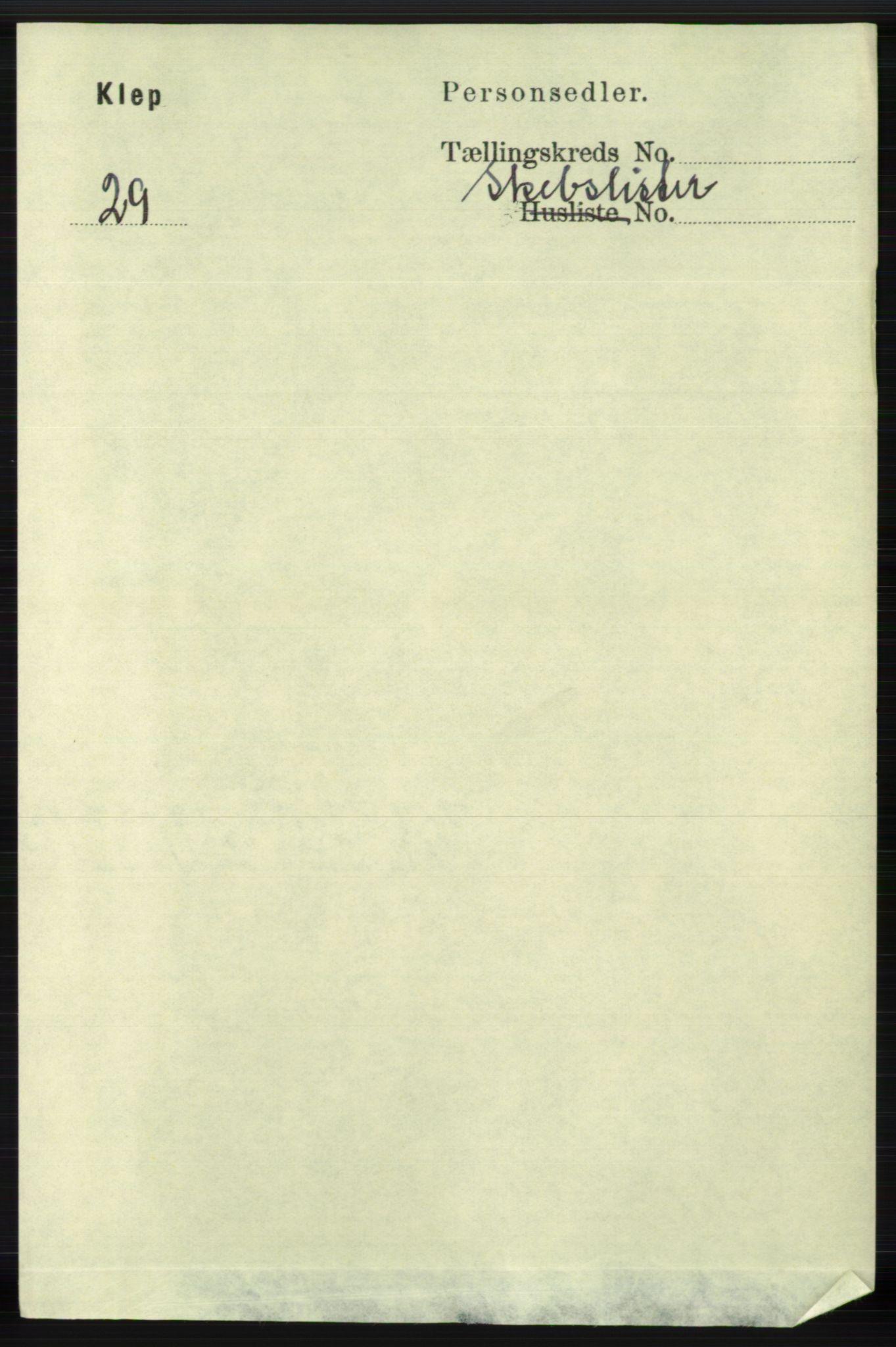 RA, Folketelling 1891 for 1120 Klepp herred, 1891, s. 3051