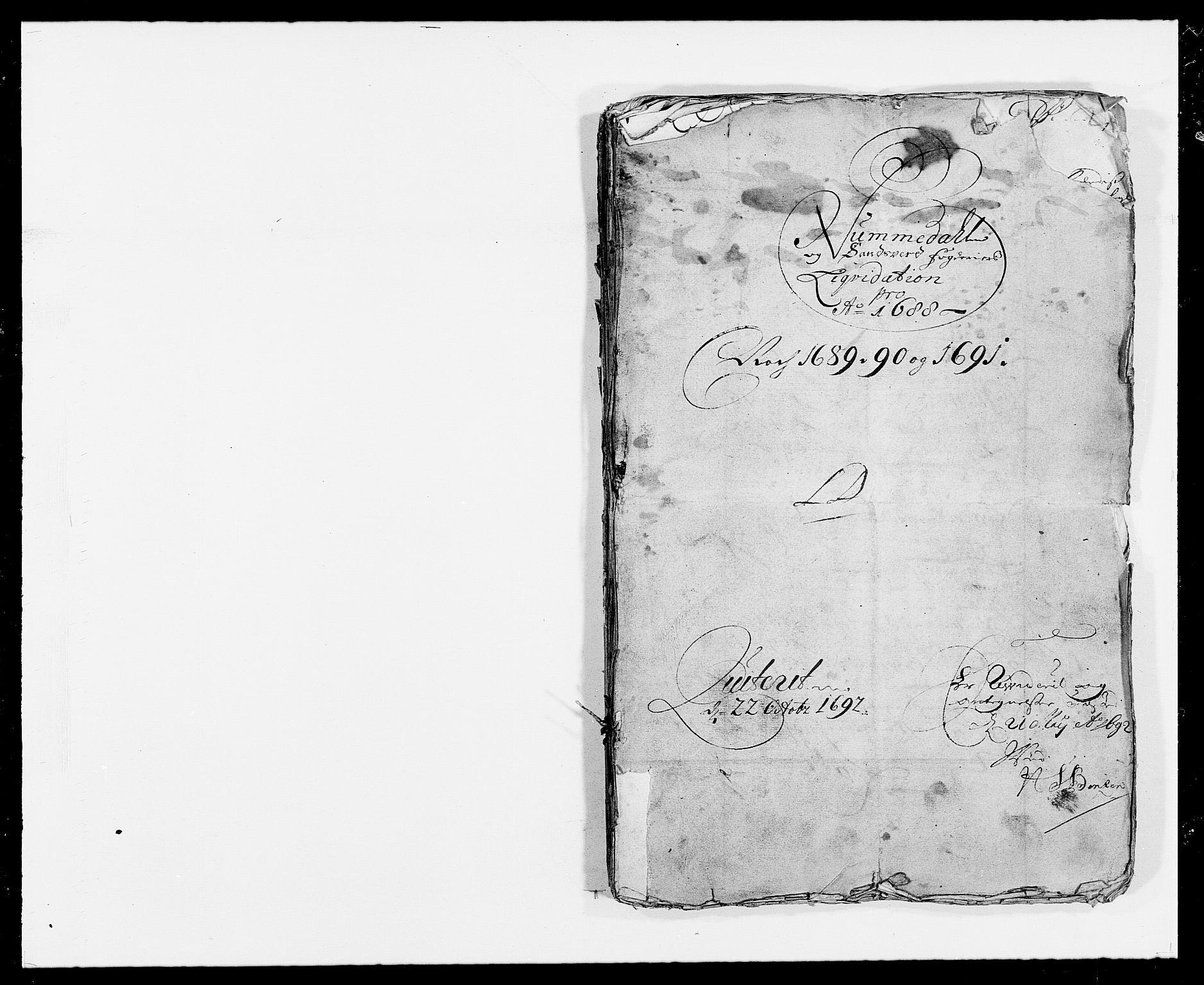 RA, Rentekammeret inntil 1814, Reviderte regnskaper, Fogderegnskap, R24/L1573: Fogderegnskap Numedal og Sandsvær, 1687-1691, s. 222