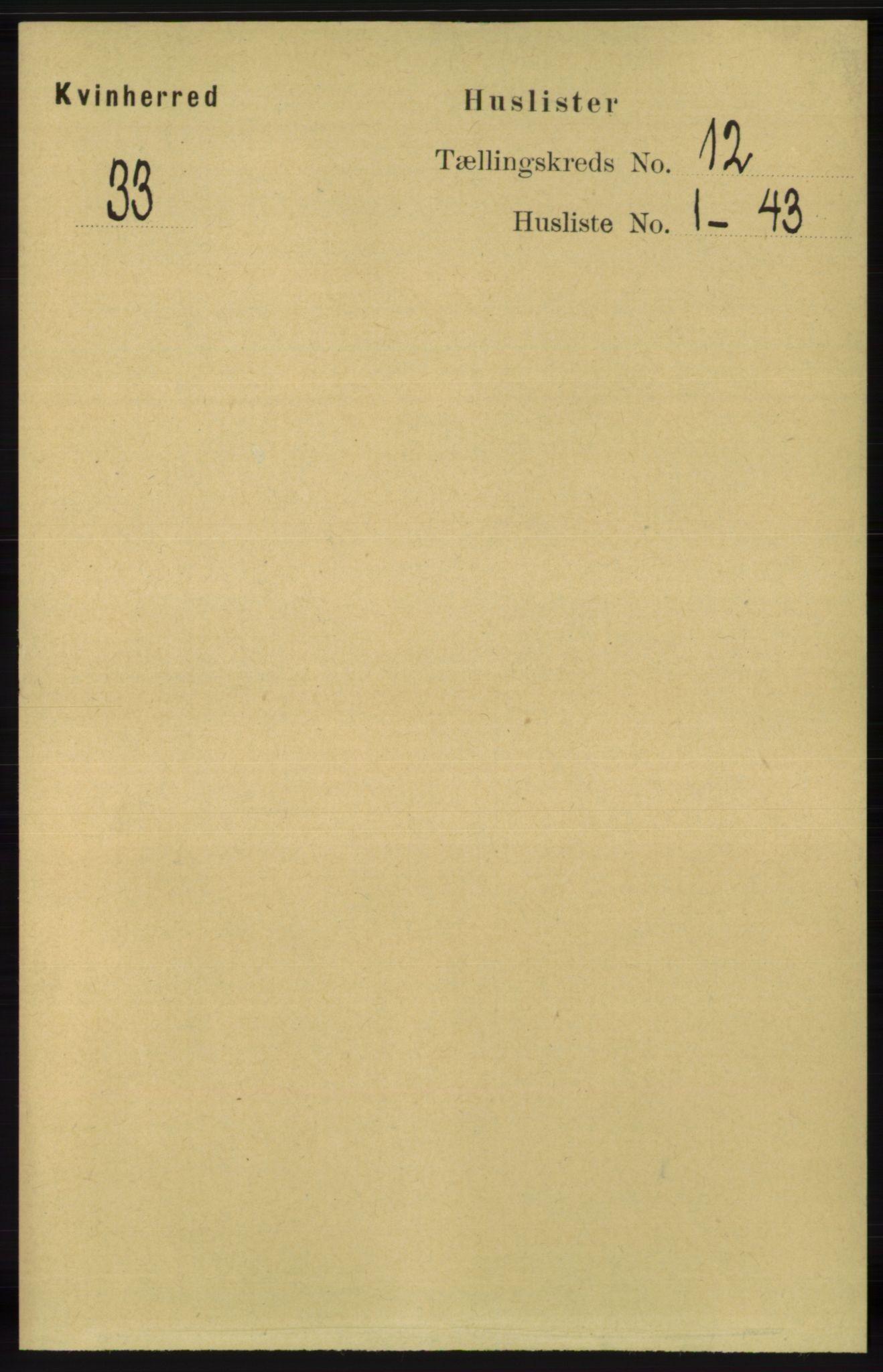 RA, Folketelling 1891 for 1224 Kvinnherad herred, 1891, s. 3919