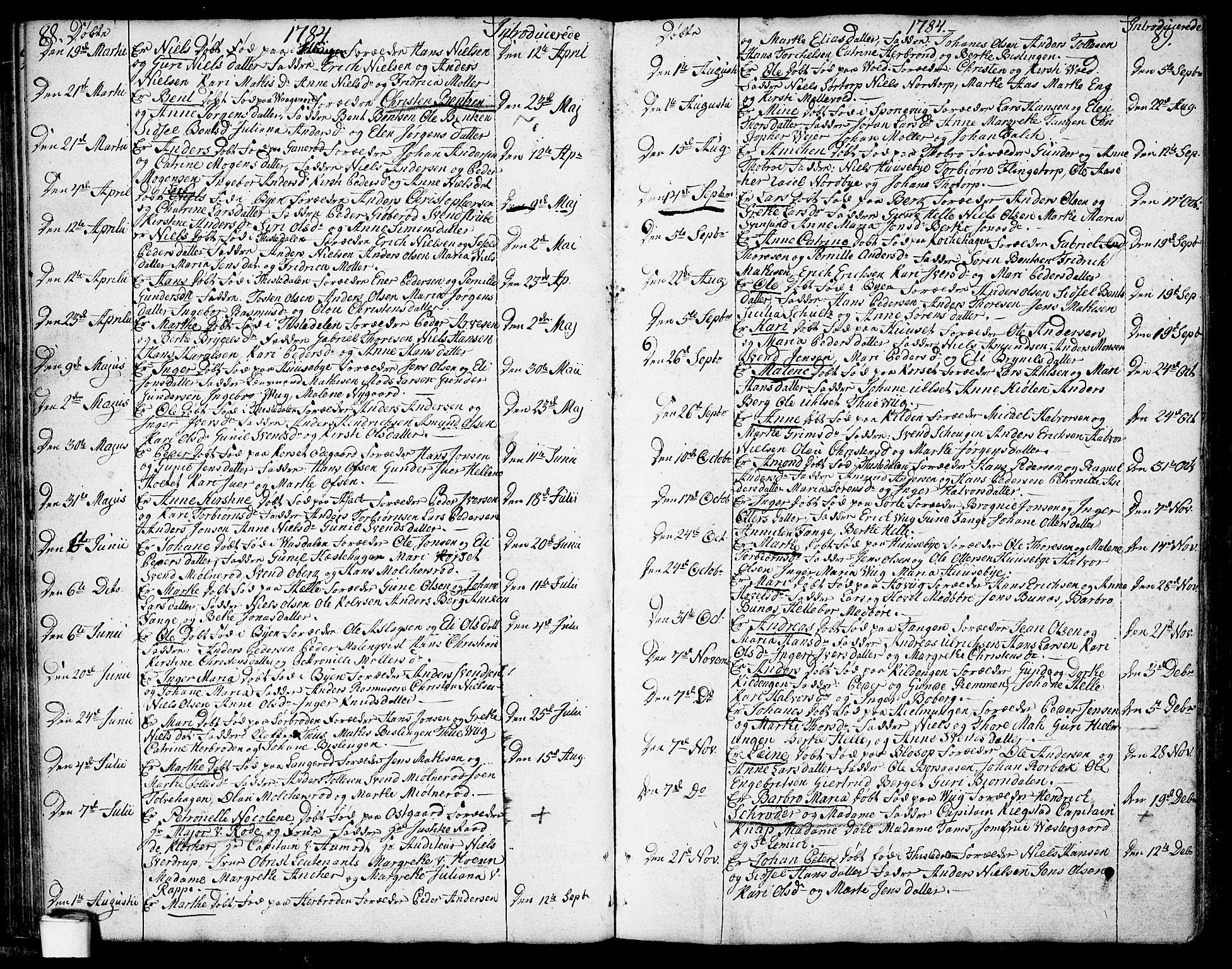 SAO, Berg prestekontor Kirkebøker, F/Fa/L0001: Ministerialbok nr. I 1, 1770-1814, s. 88-89