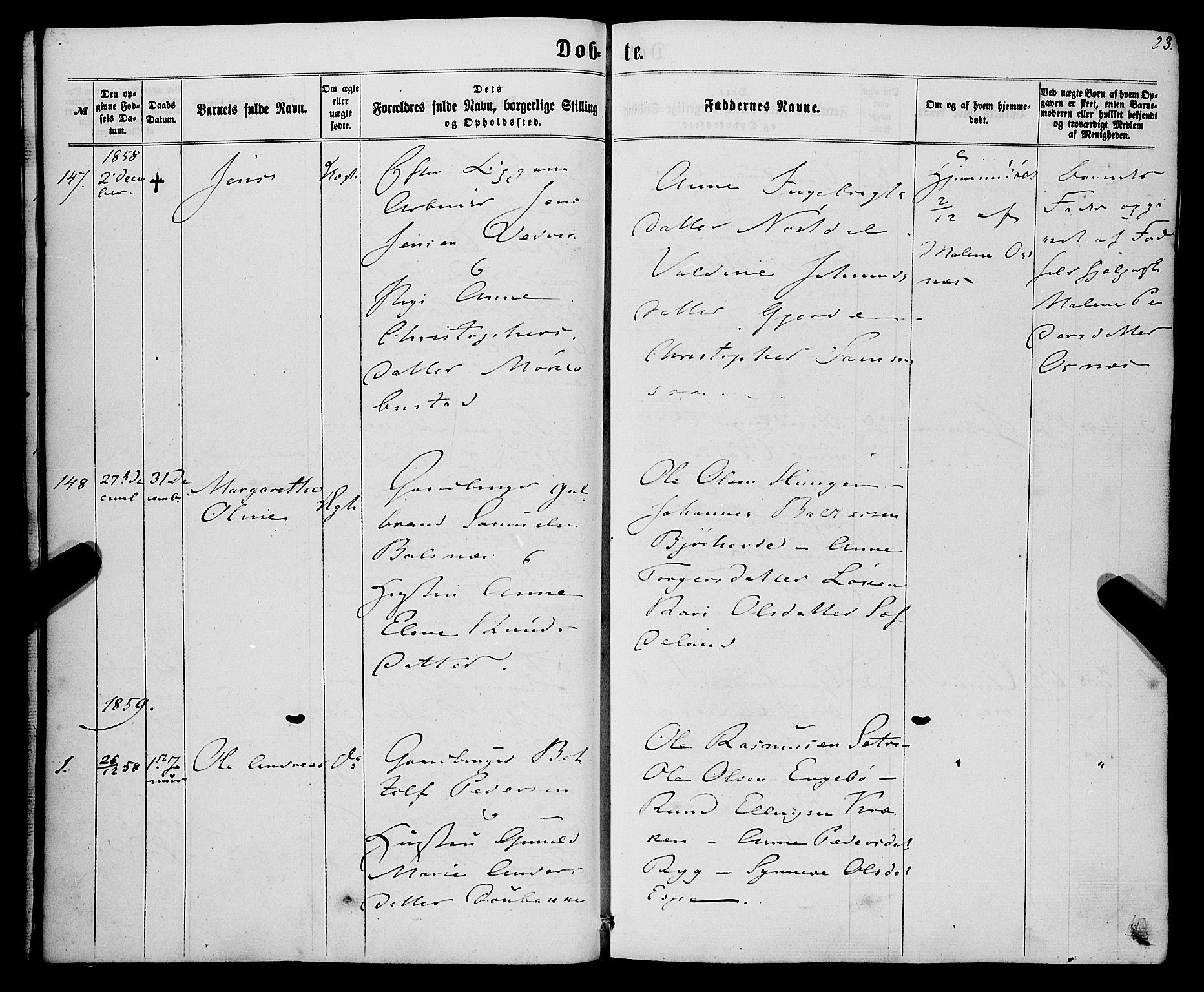 SAB, Eid Sokneprestembete, H/Haa: Ministerialbok nr. A 8, 1858-1860, s. 23
