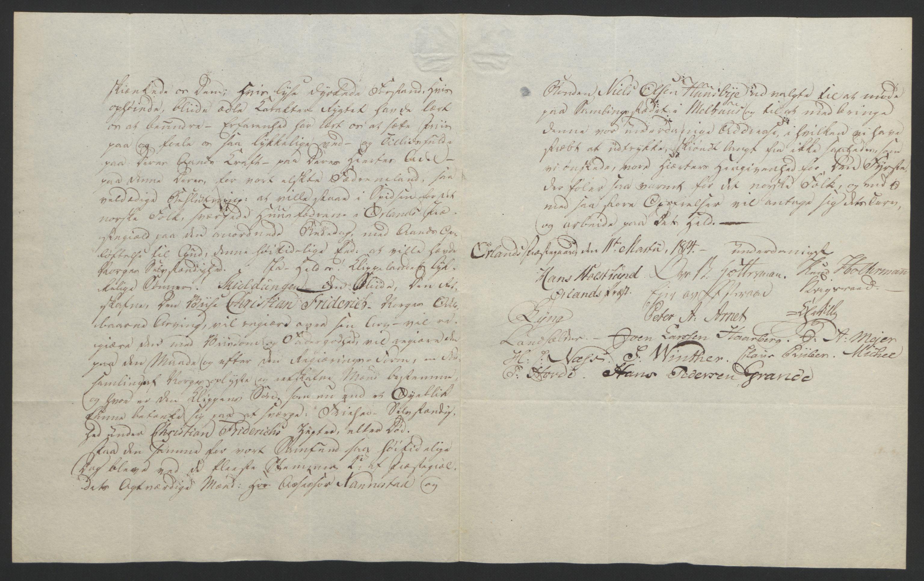 RA, Statsrådssekretariatet, D/Db/L0008: Fullmakter for Eidsvollsrepresentantene i 1814. , 1814, s. 460